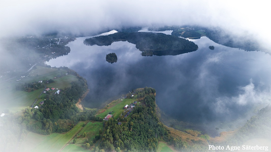 The mist rises above the lake! by Agne Säterberg