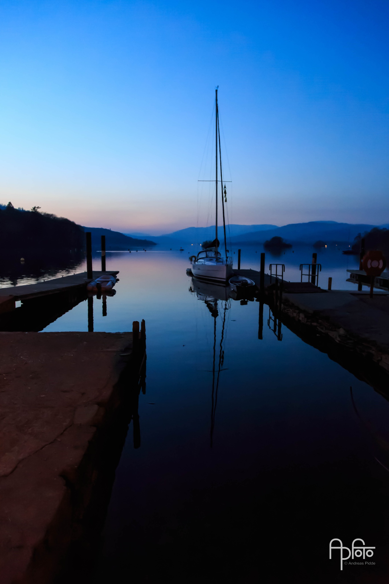 Blue Hour at Windermere Pier by Andreas Pidde