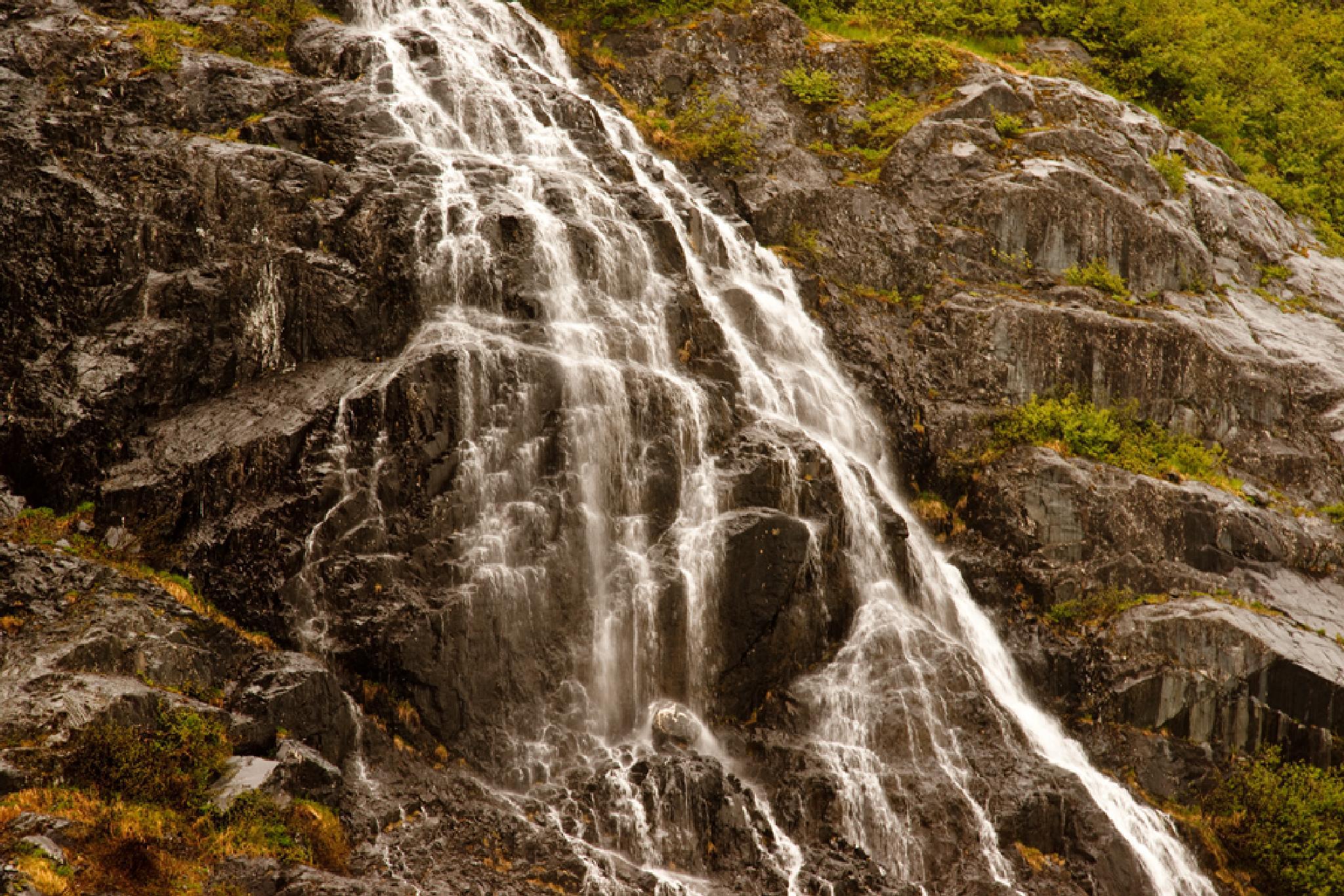 Waterfall in the Mountains by debra.louden1