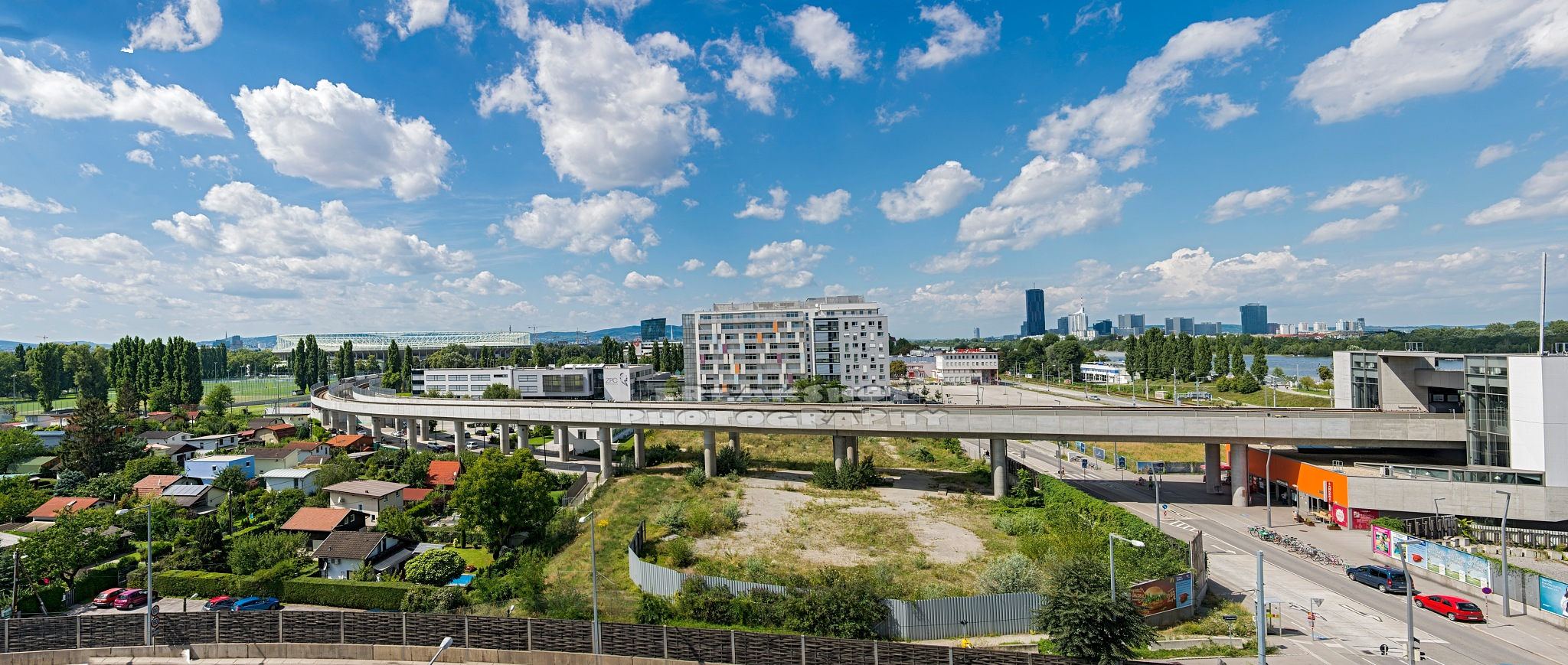 Big city view Vienna by FreakshotPhotography