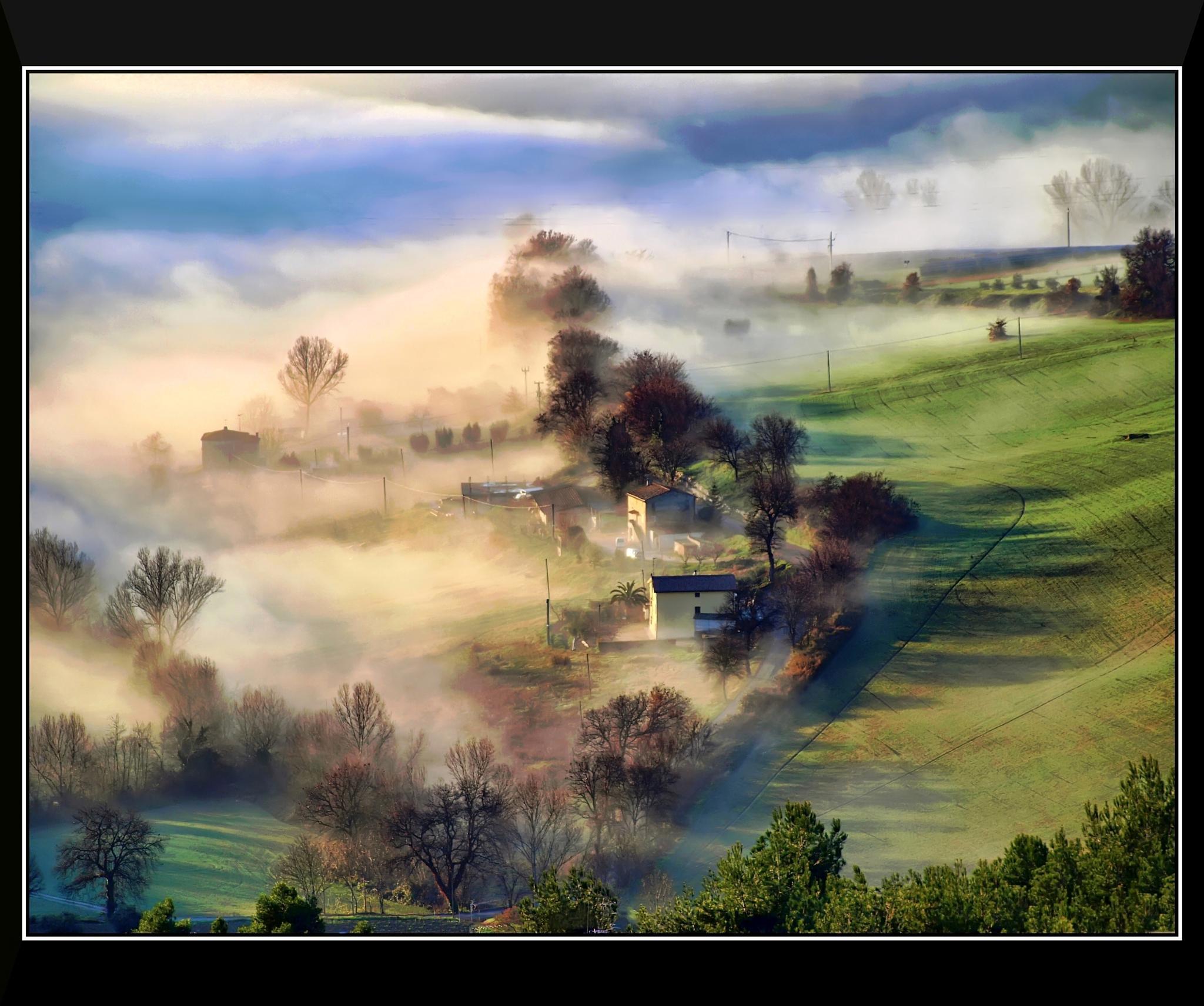 Alba sulle colline marchigiane by Ariano Falzolgher