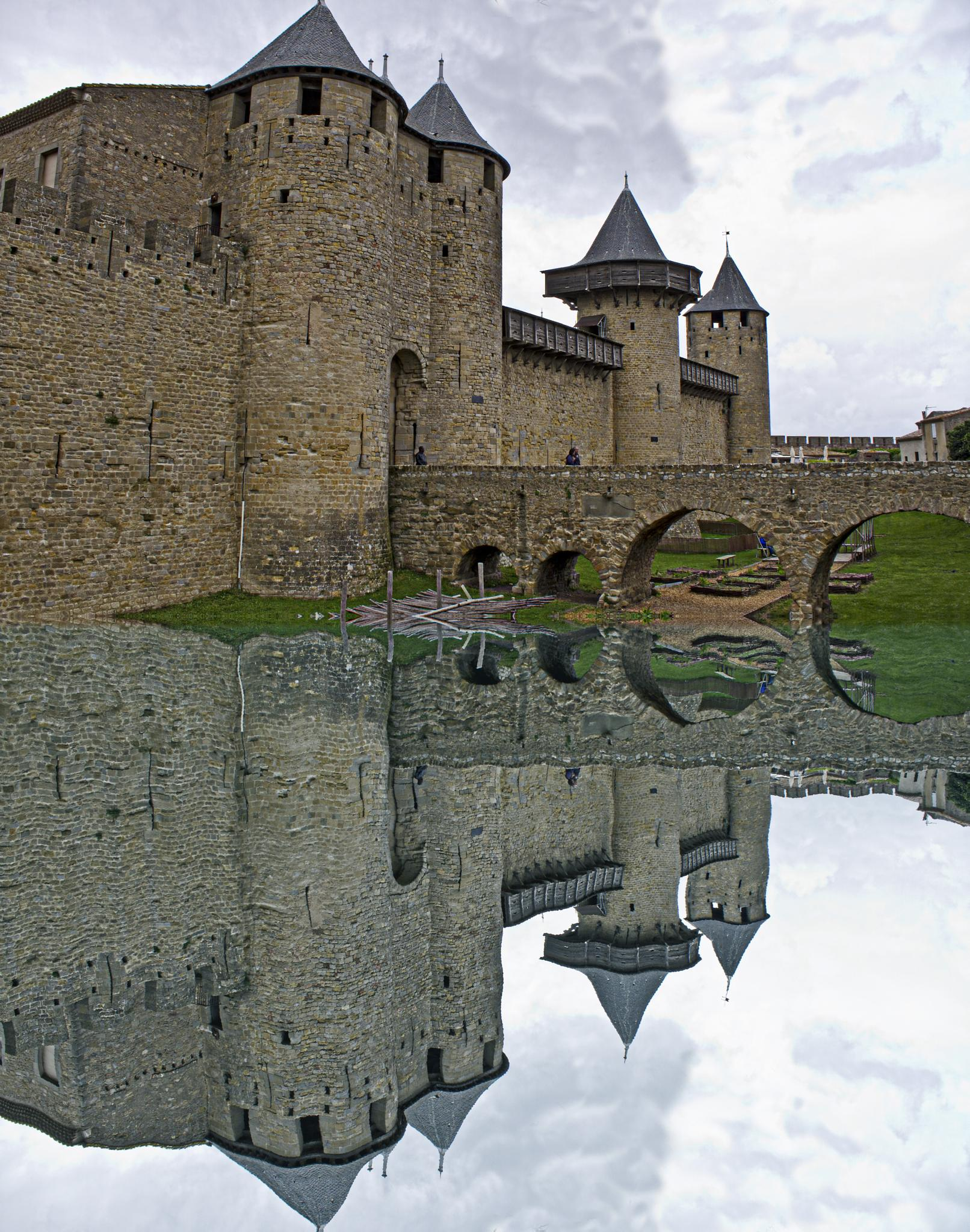 Carcassonne Cite Reflections by IanGoudie