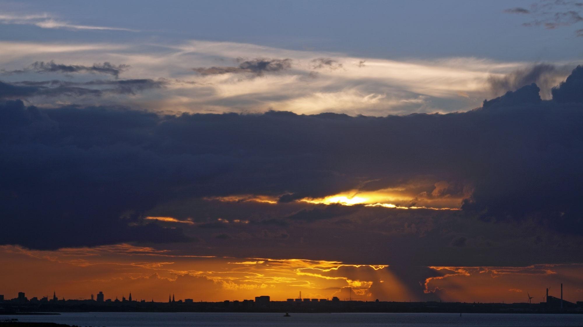 Copenhagen sunset by vedvejen