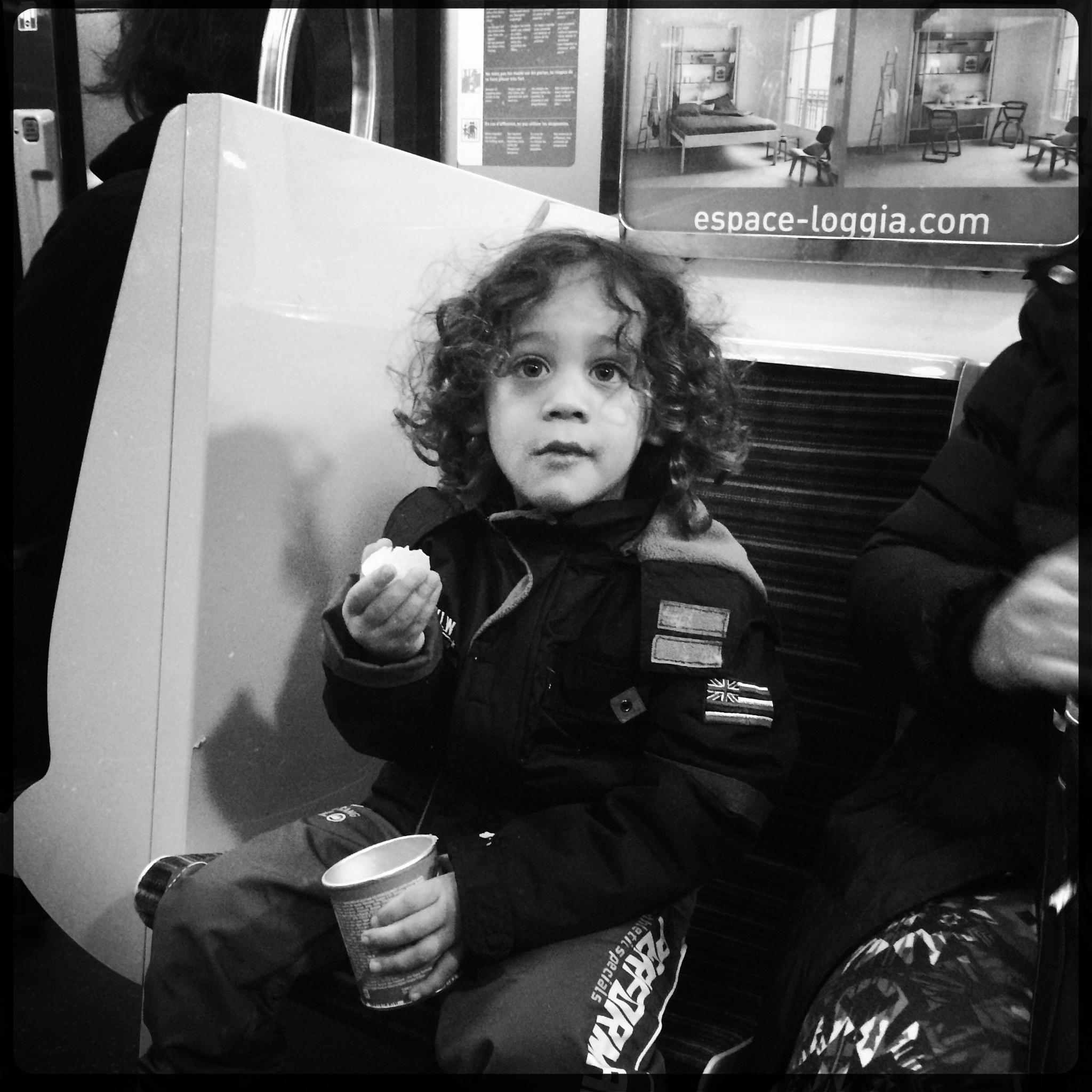 Snacking on the metro in Paris by parisfind
