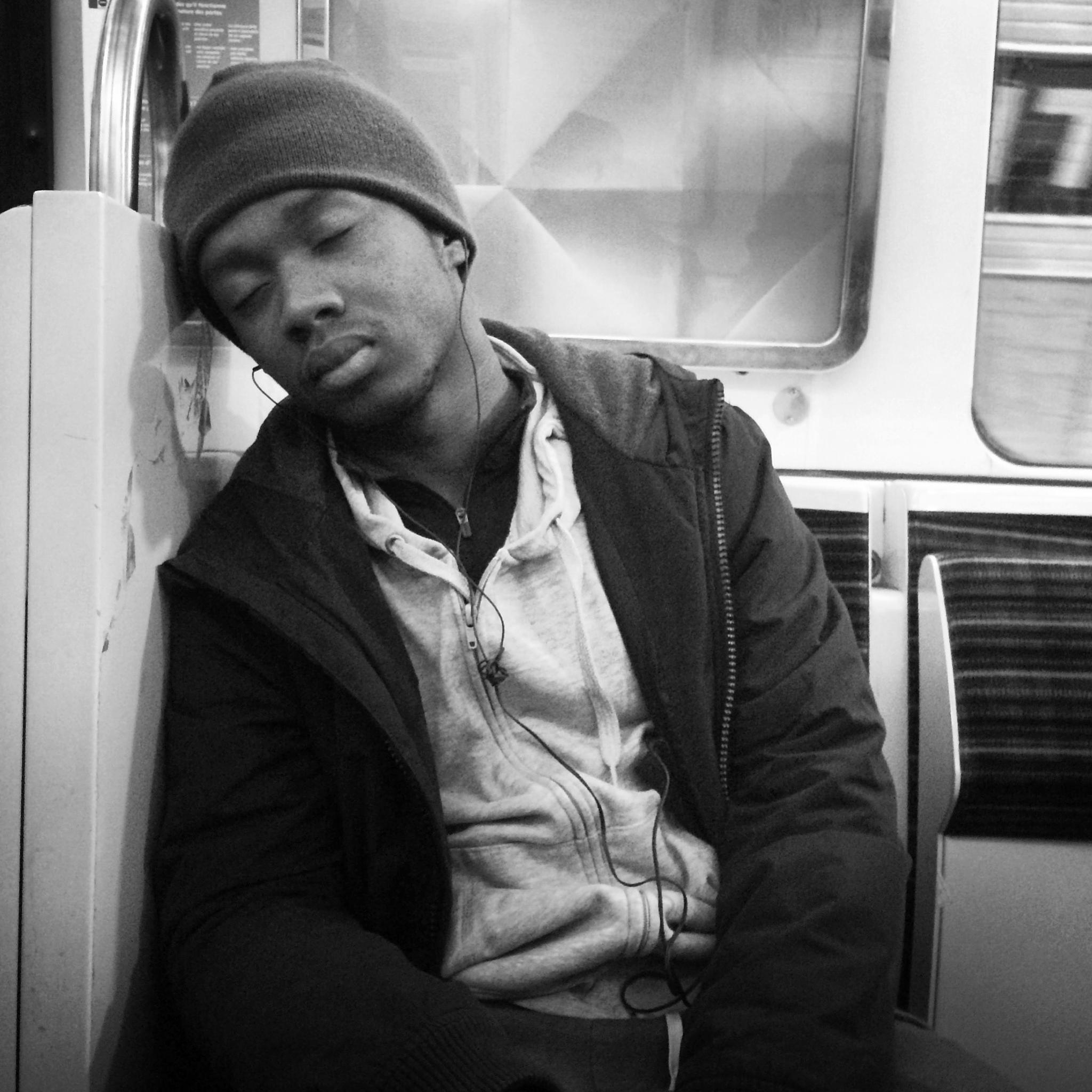 Nap on the Paris Metro by parisfind