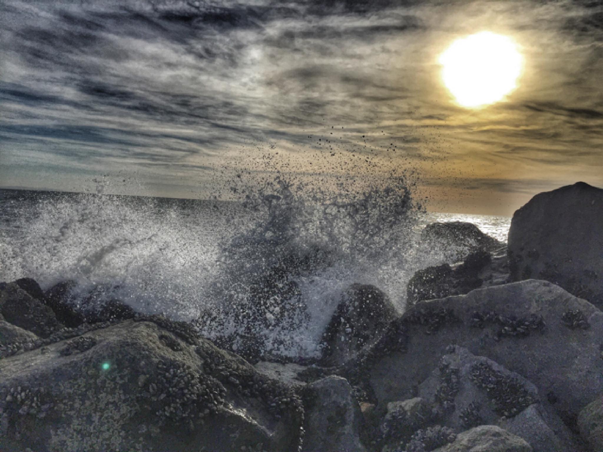 Rocks meet water by Oleg K