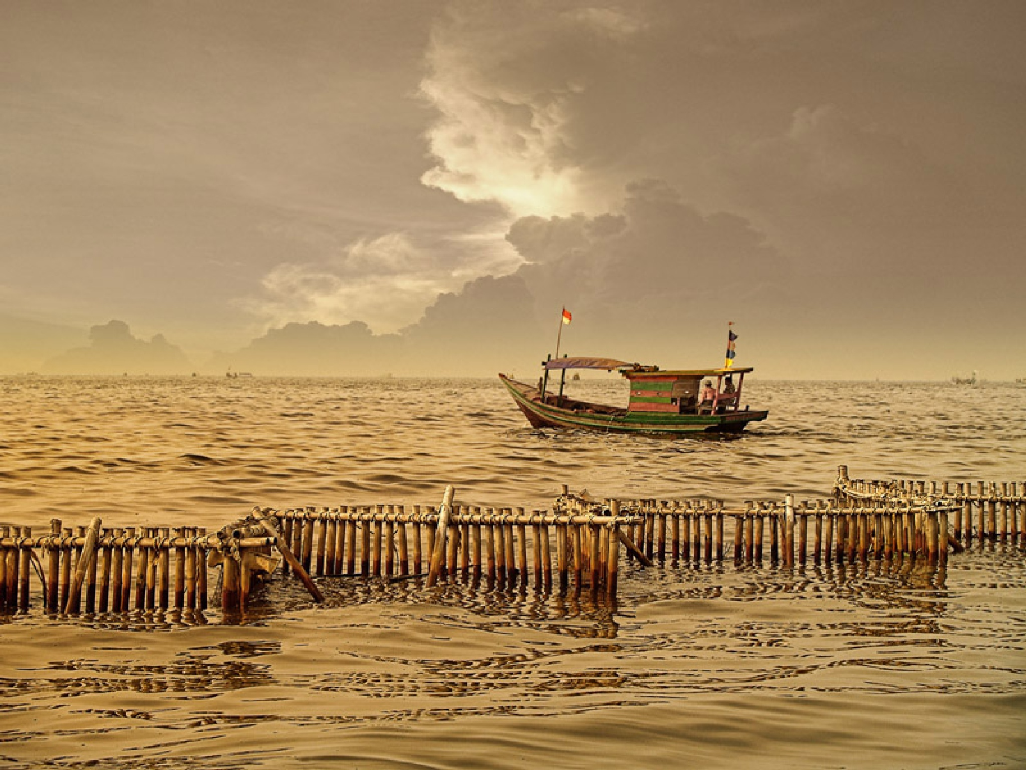 gold sea at dusk by Sonny Soleman
