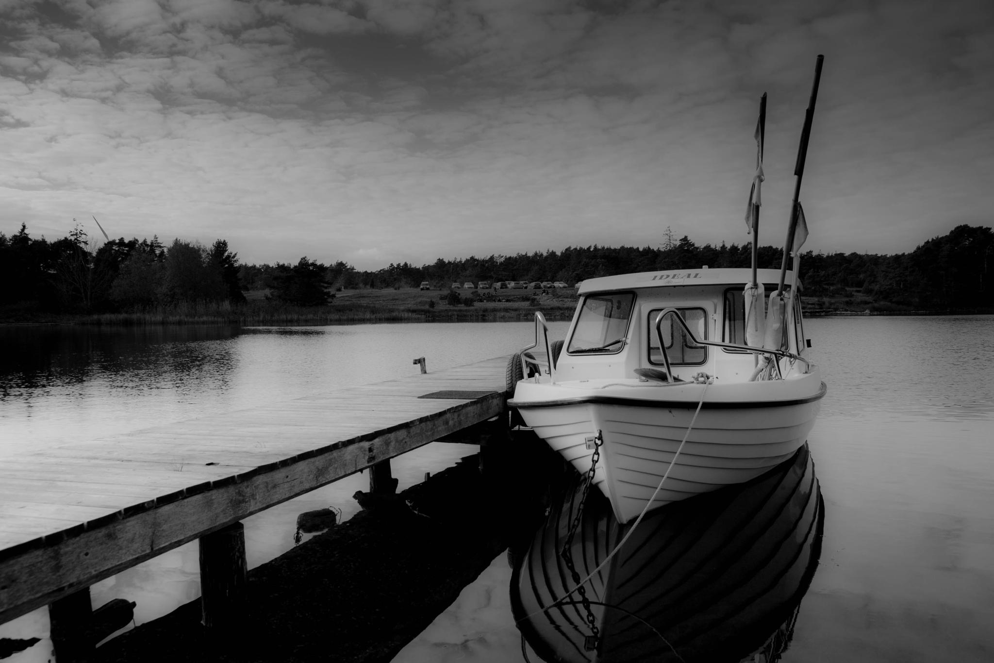 Boat at the harbour by Olof Nysten