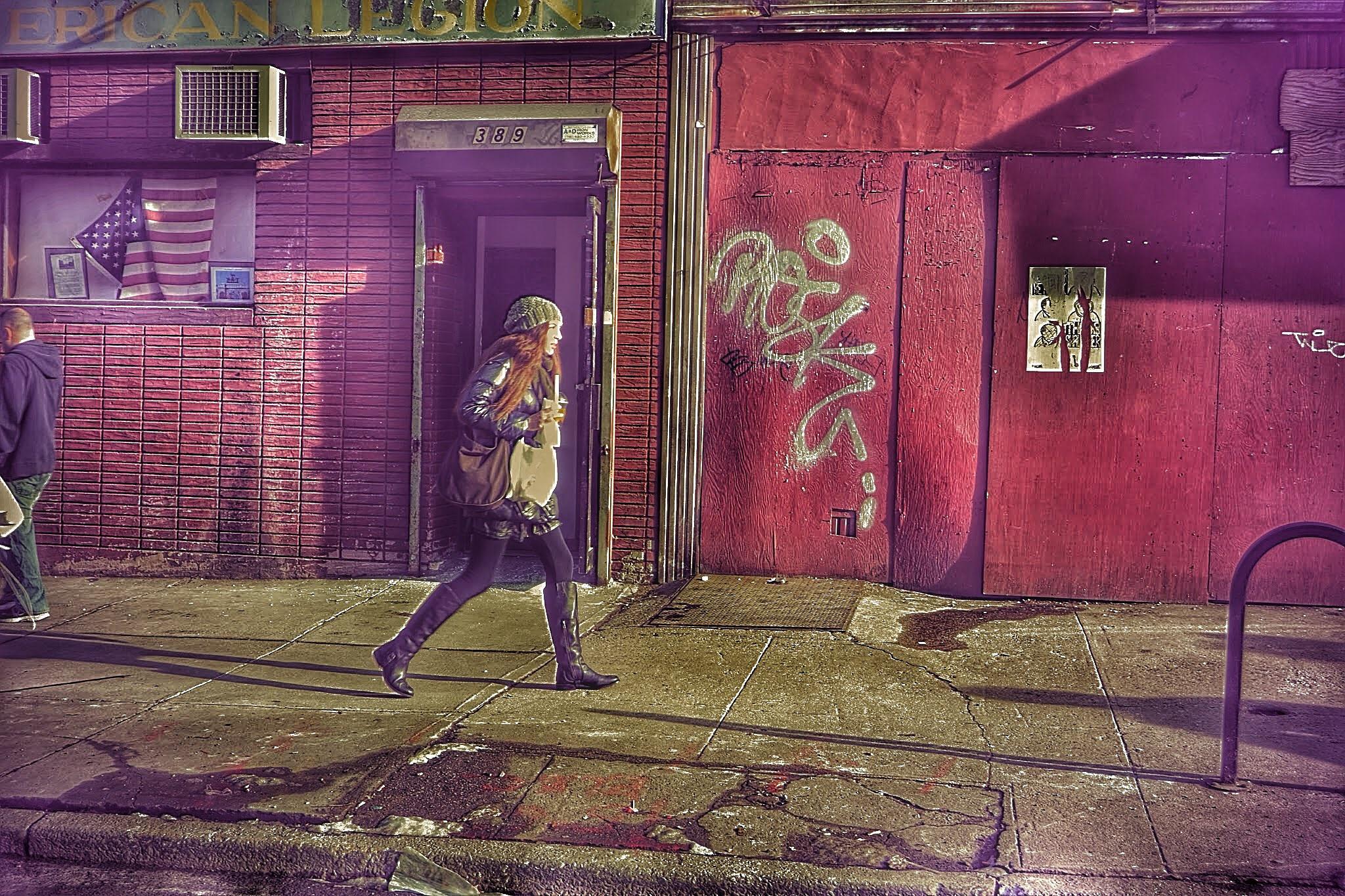 Walking in Brooklyn  by budd.a.robertson