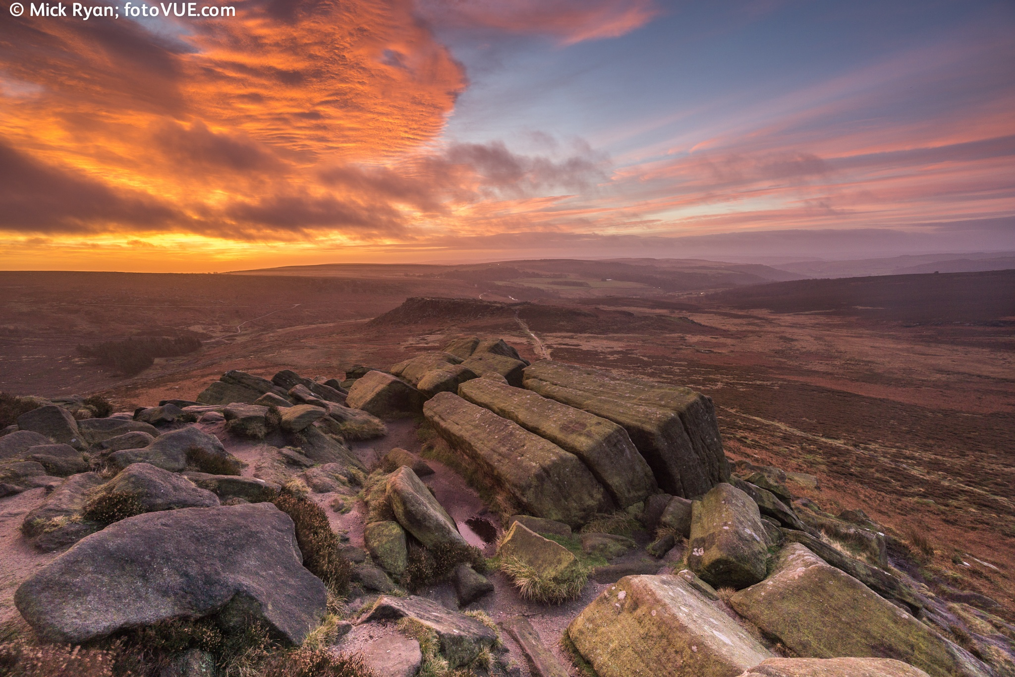 Today's Dawn at Higger Tor, Peak District by mick.ryan.1650