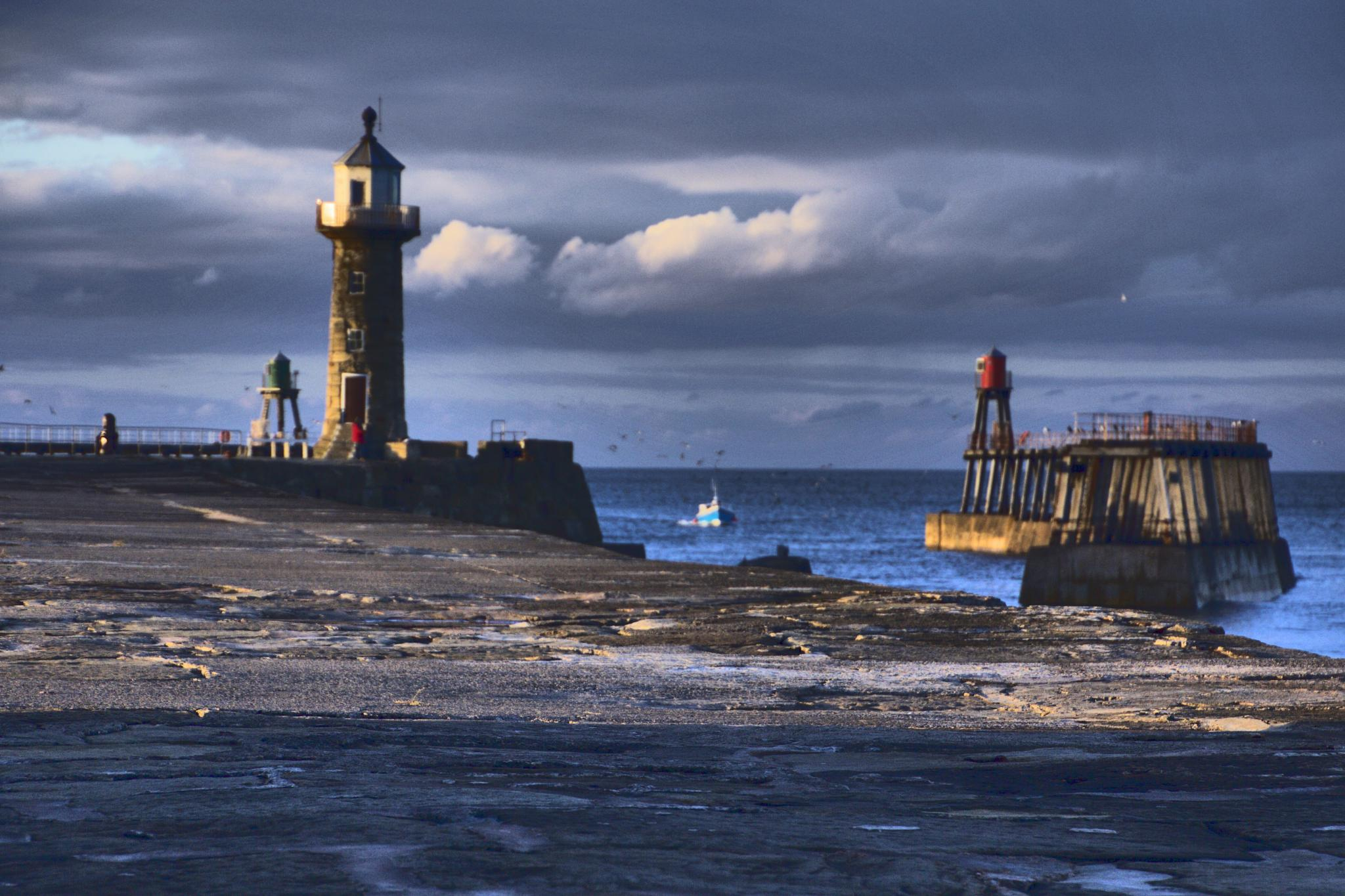 Whitby Harbour - Gone Fishing by Pick3rs