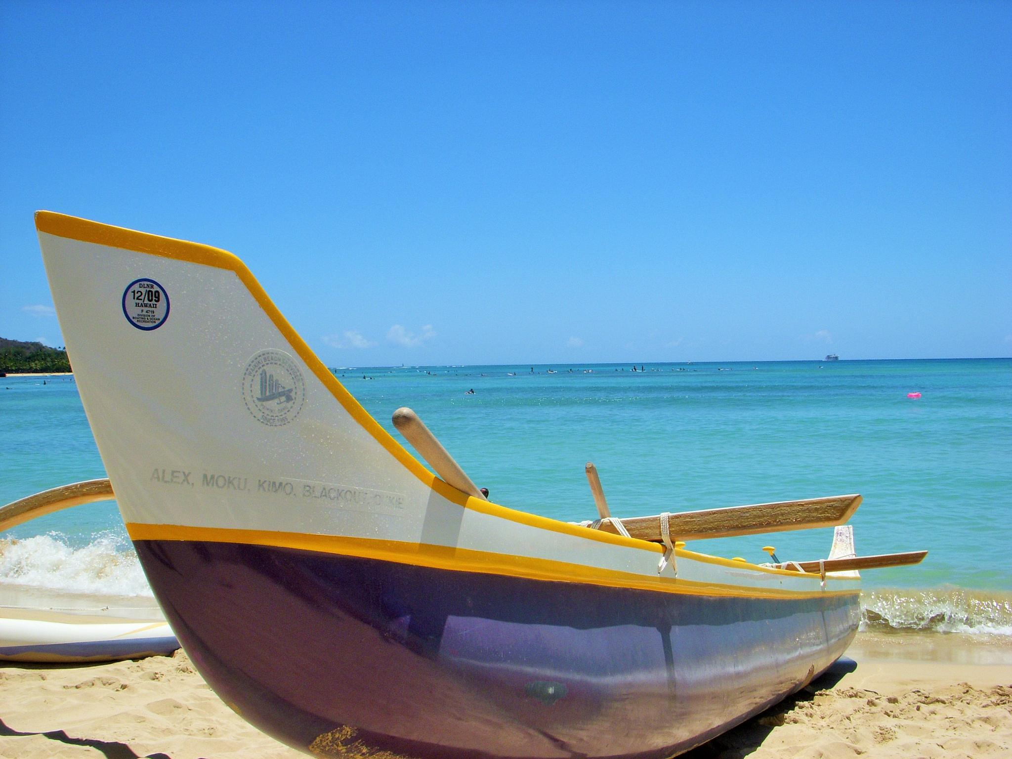 Boat on Beach by Laura J. Vazquez
