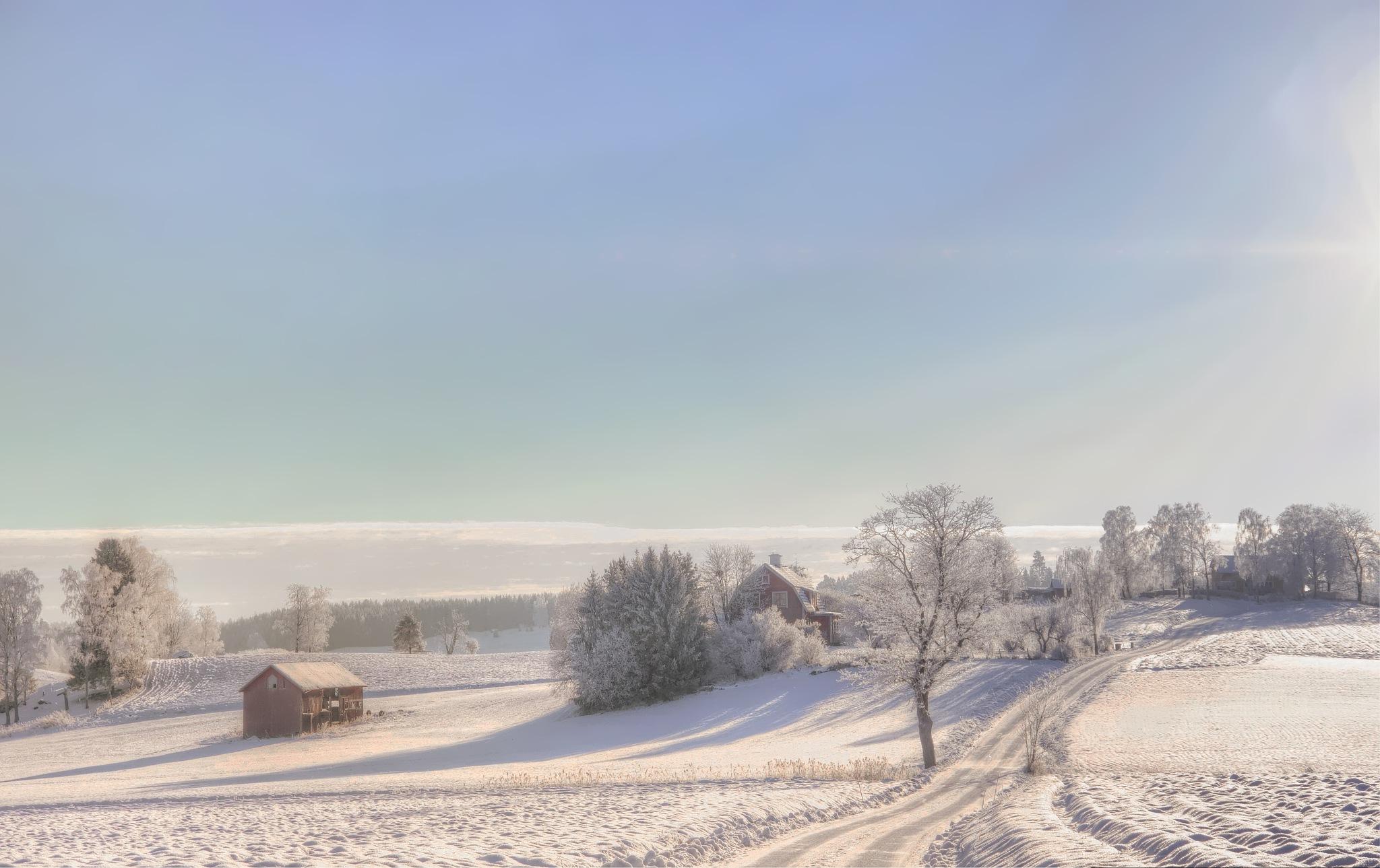 The Village in Winter by rockorbach
