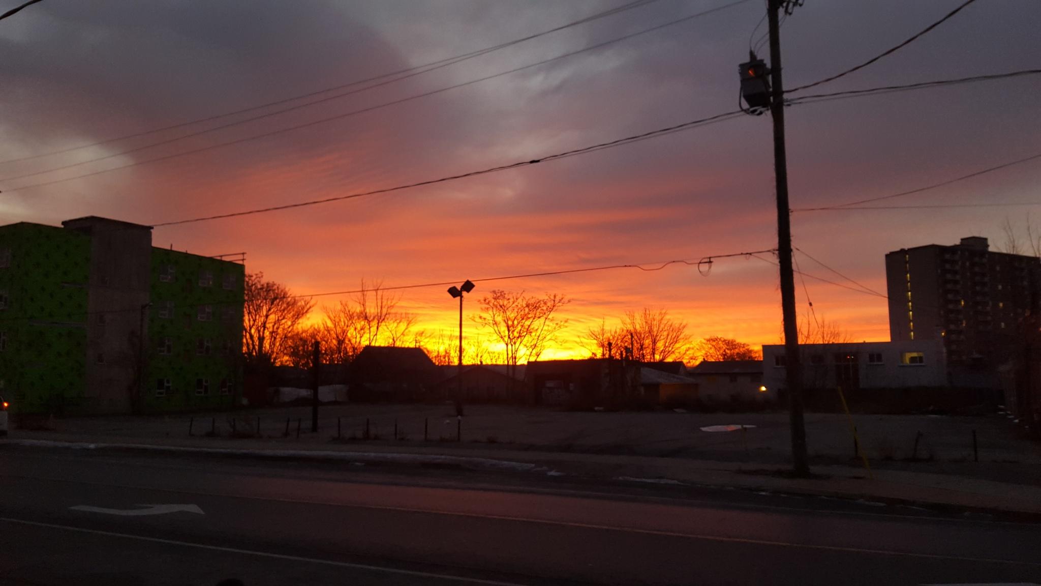 Fire sky by RegSoper