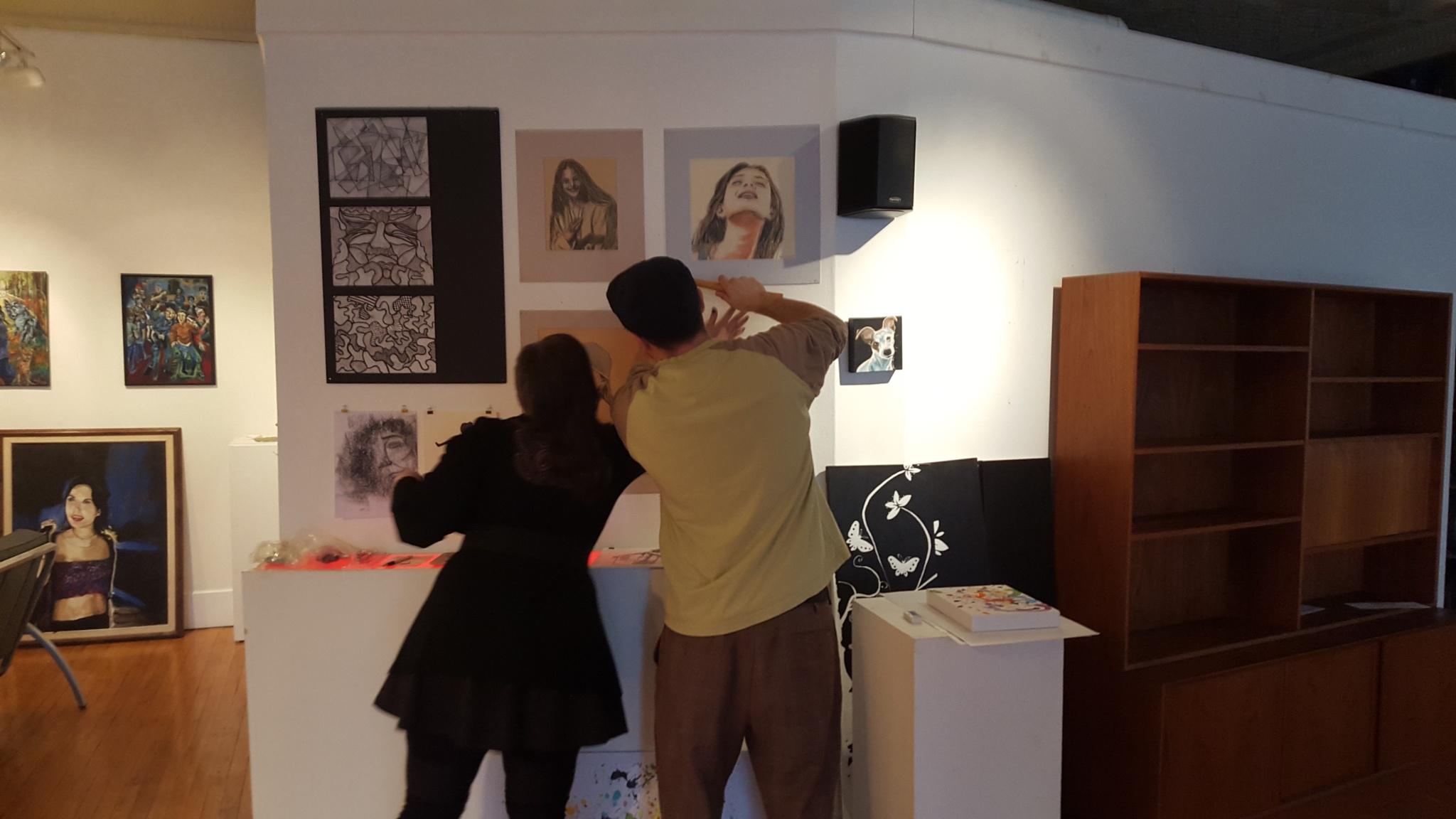 Art work going up by RegSoper