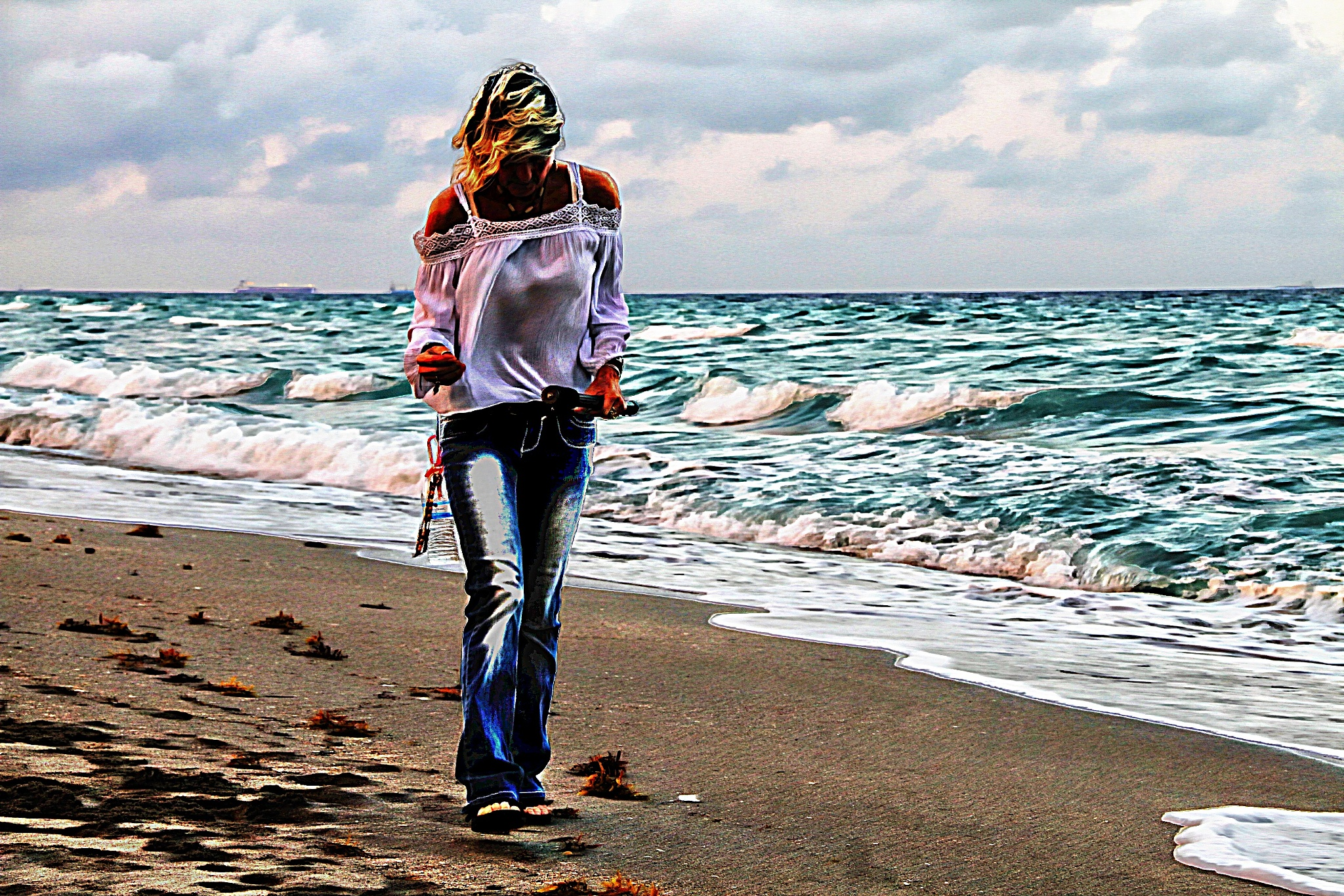 Beach combing by Tyzin