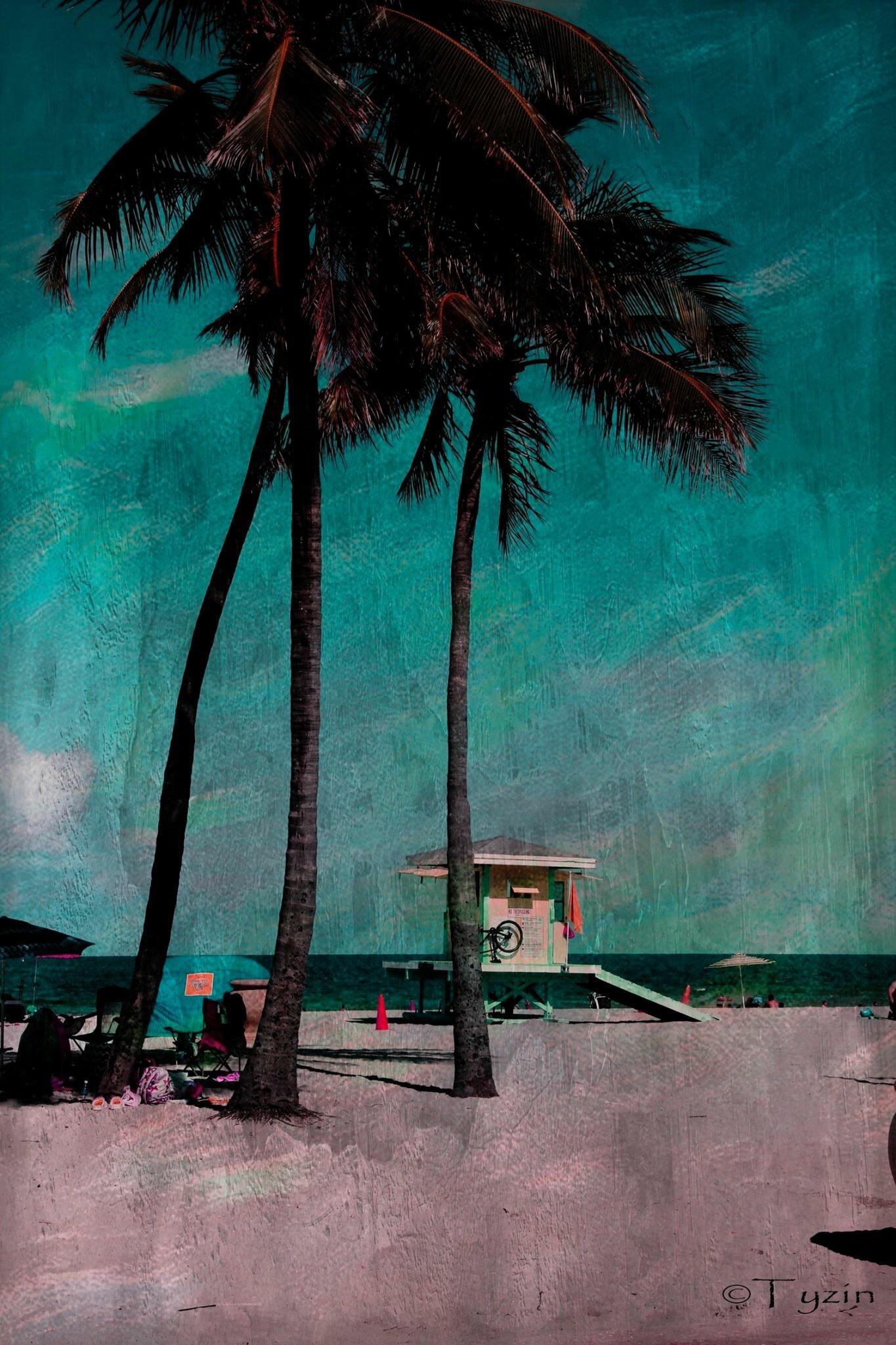 Green Beach by Tyzin