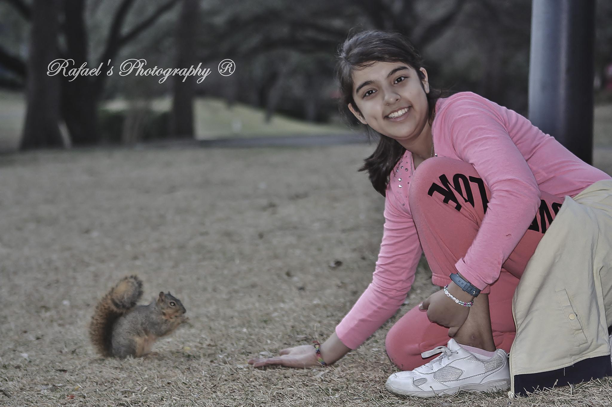 squirrel feeding. by yombino_Image
