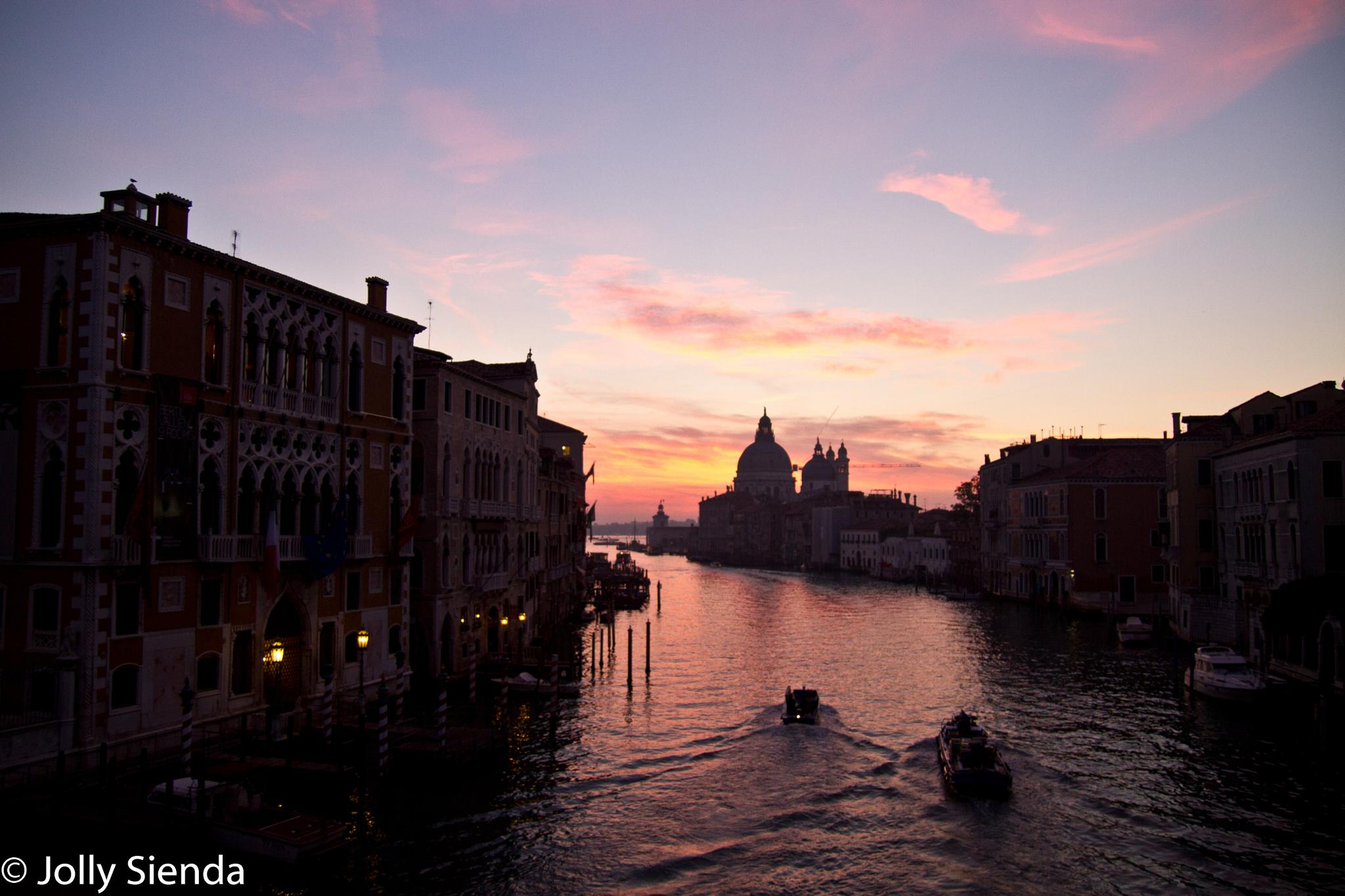 The Grand Canal at Sunrise.  by Jolly Sienda