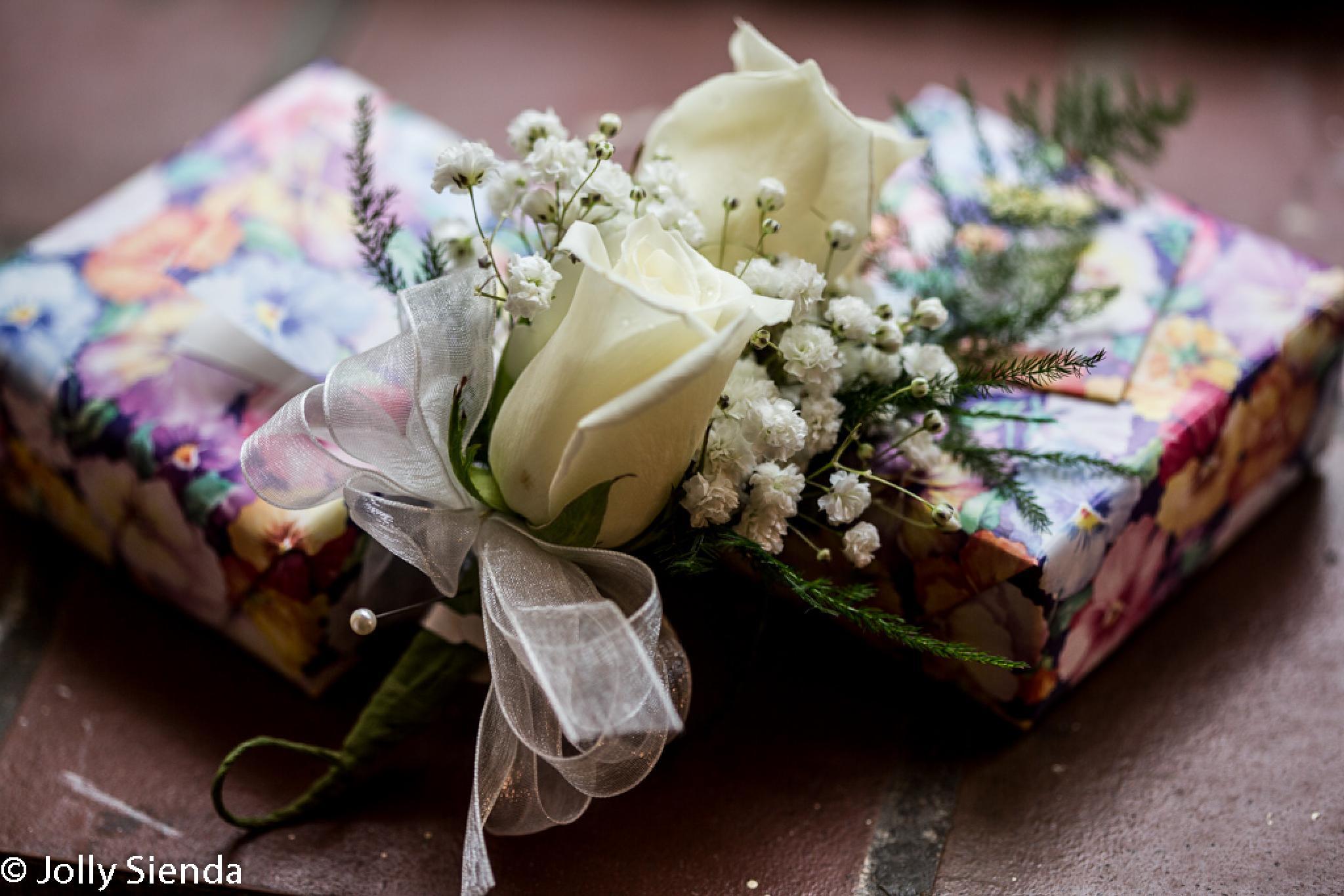 A Wedding Corsage and Wedding Presents by Jolly Sienda