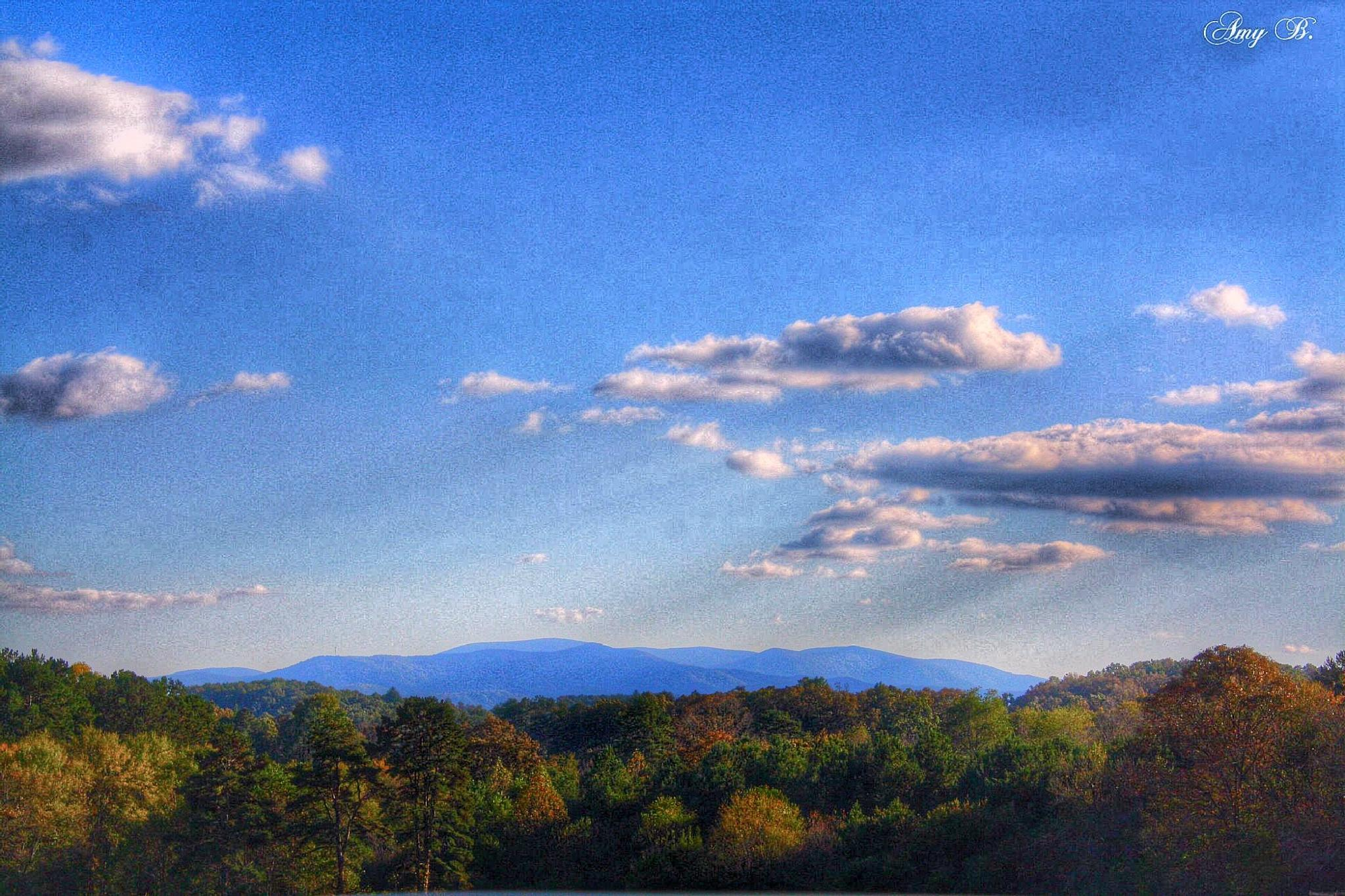 Blue ridge mountains and blue skies by amy.conger.9