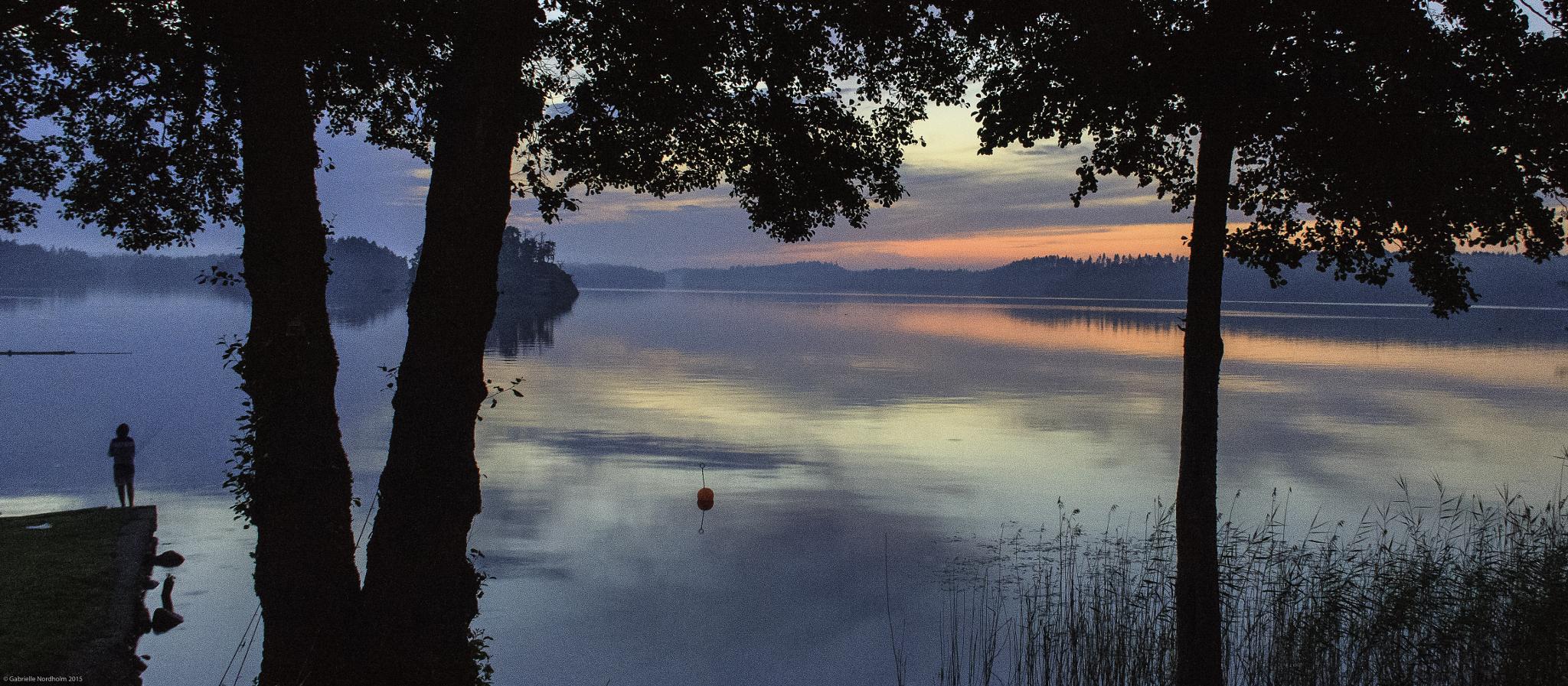 Fishing late night by Gabino