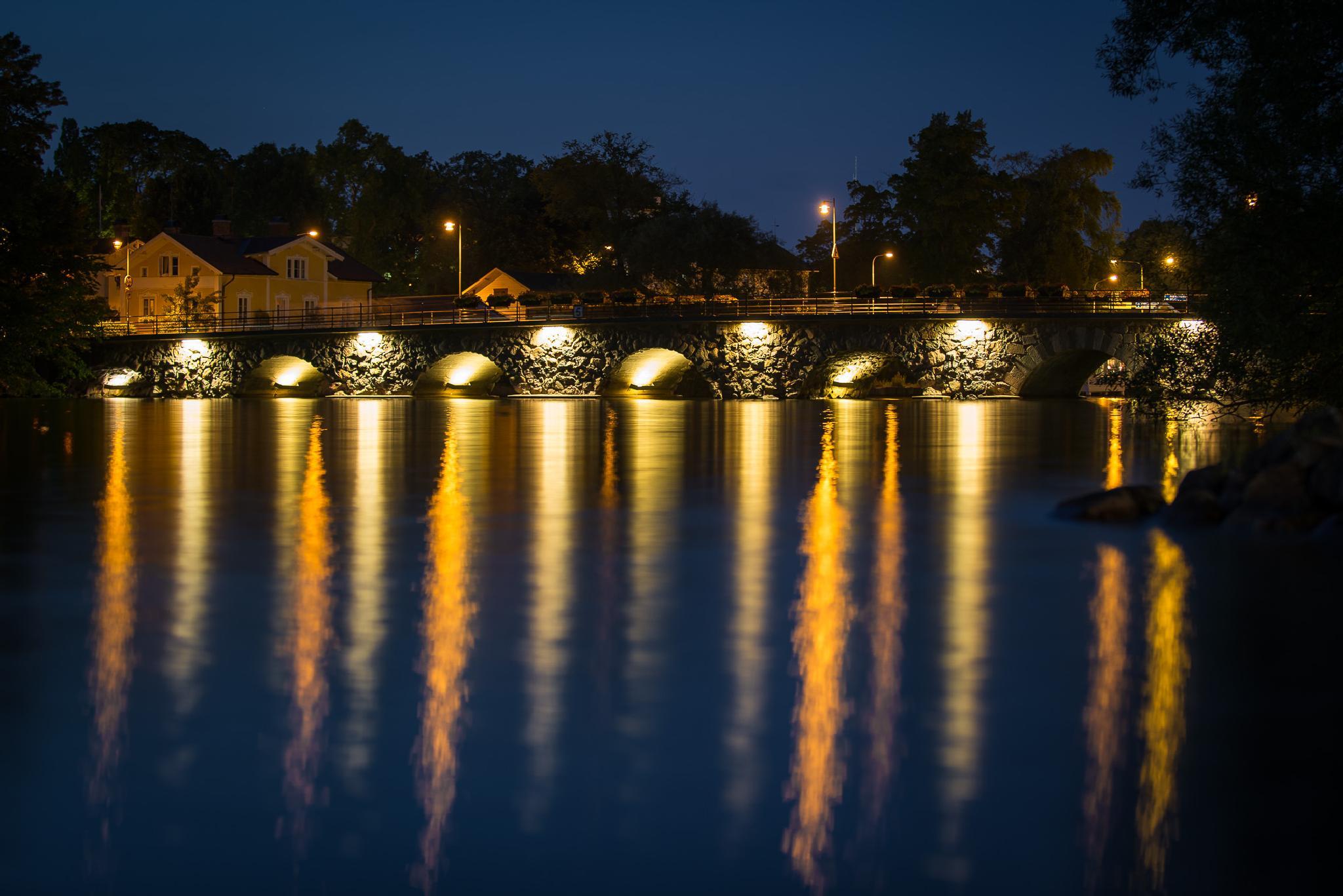 The old stone bridge in Motala by elaine.karlsson