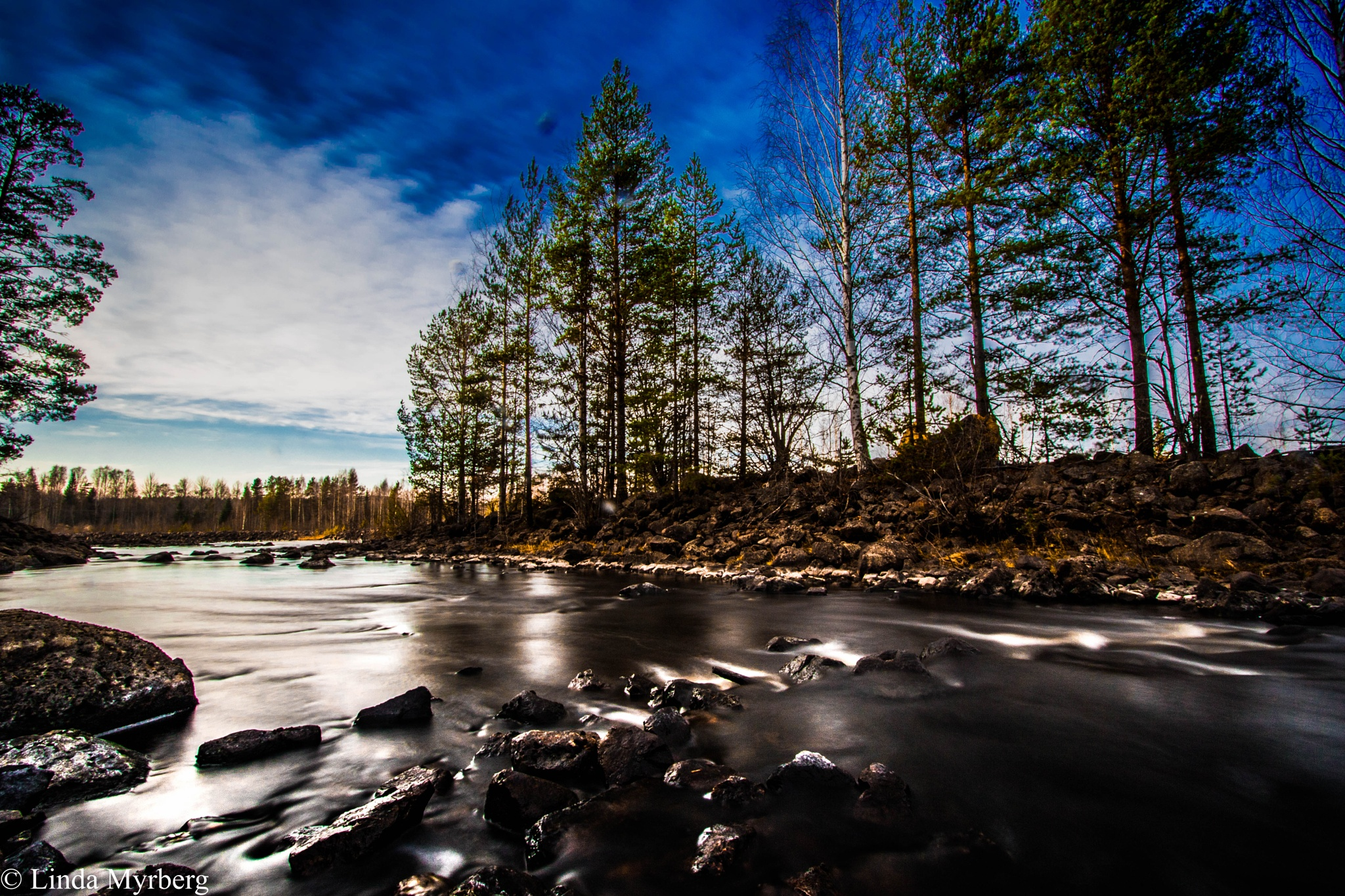 River Ljusnan by Linda Myrberg
