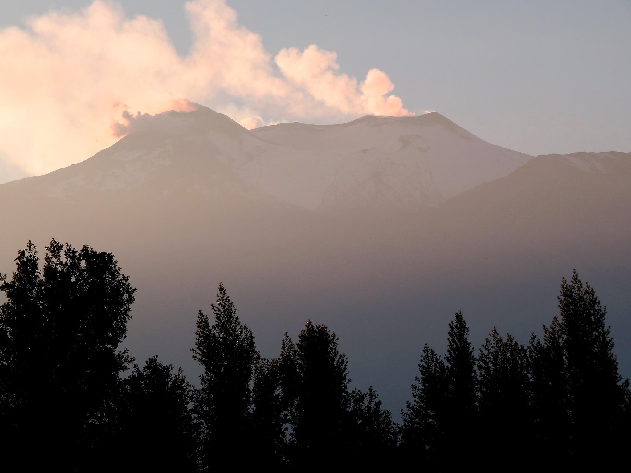 Sunset on mount Etna by aurelio.spina