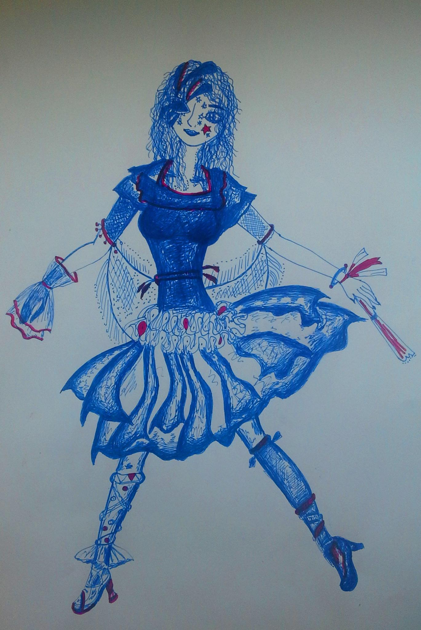 The Painted Girl by Simona Bakševičiūtė