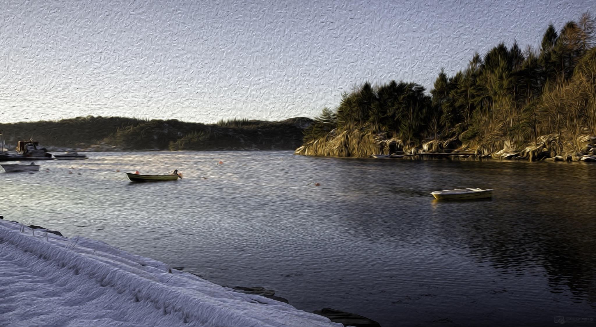 Lysefjorden, Os painting by tjsandofoto