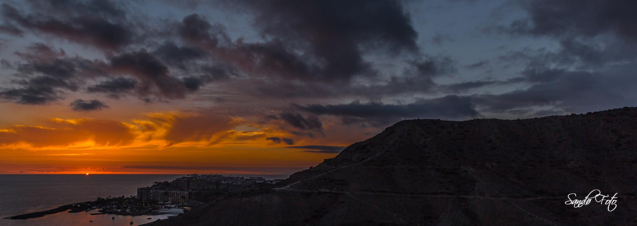 Canary Island Sunset by tjsandofoto