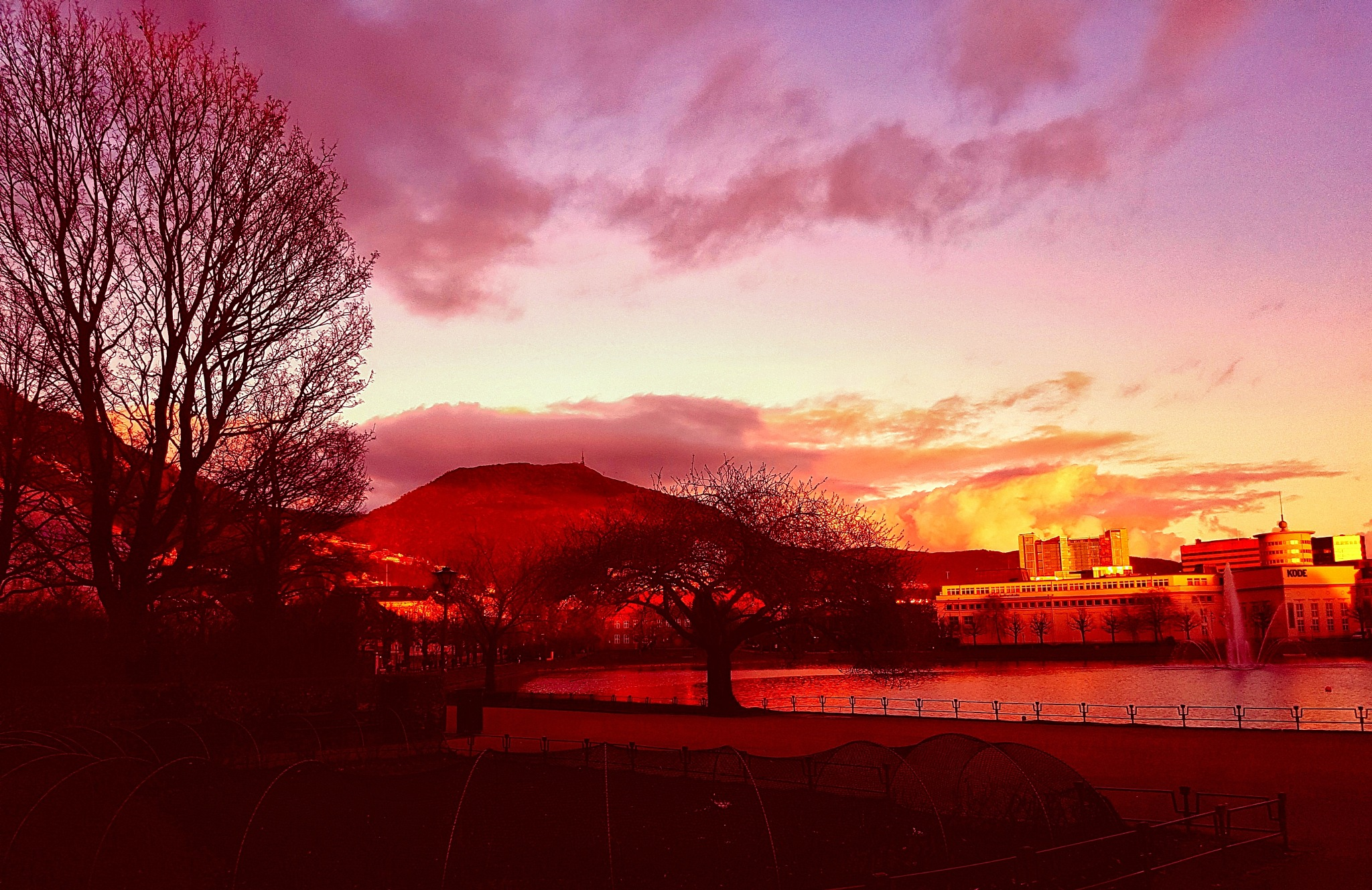 Bergen at sunset  by tjsandofoto