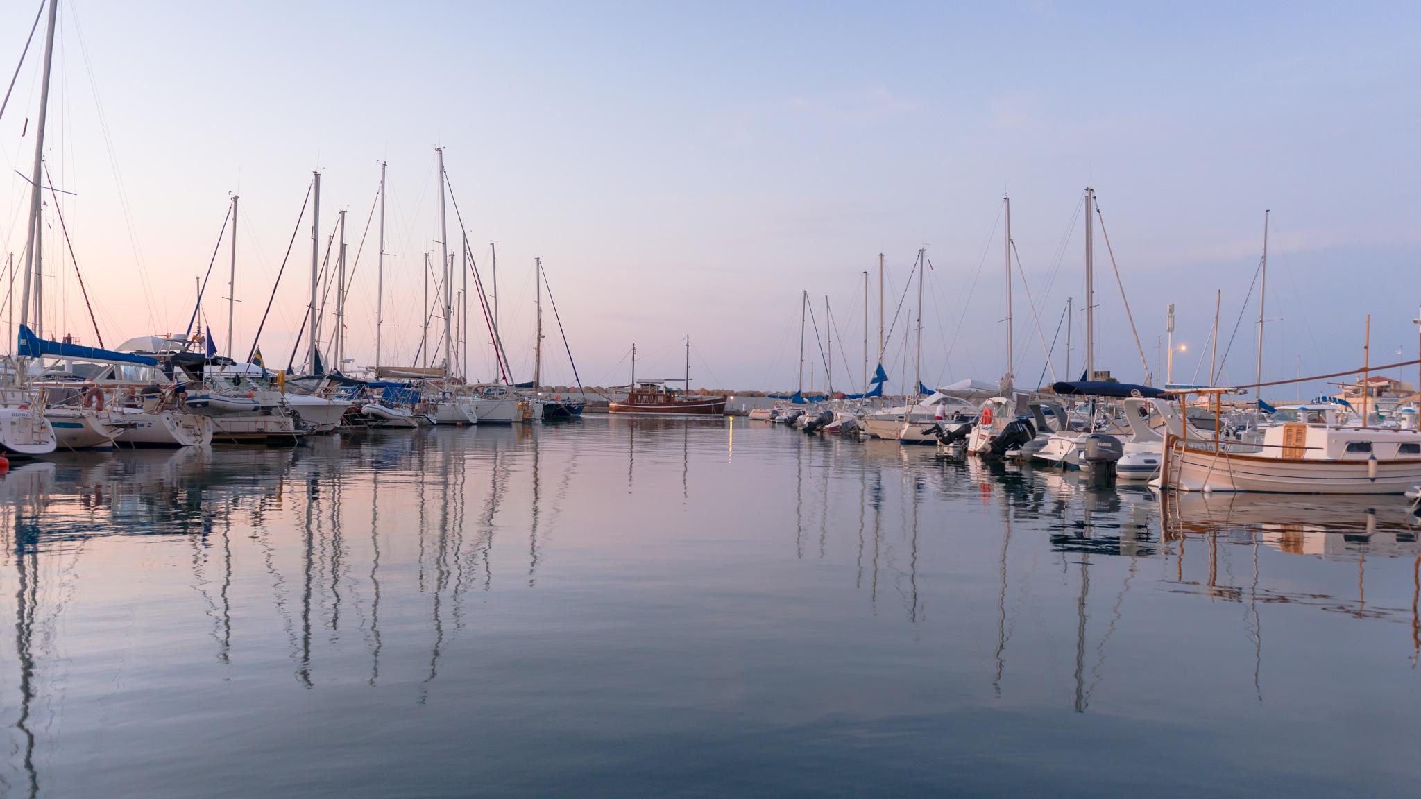 Banyuls' harbor  by Valentine Aquilina