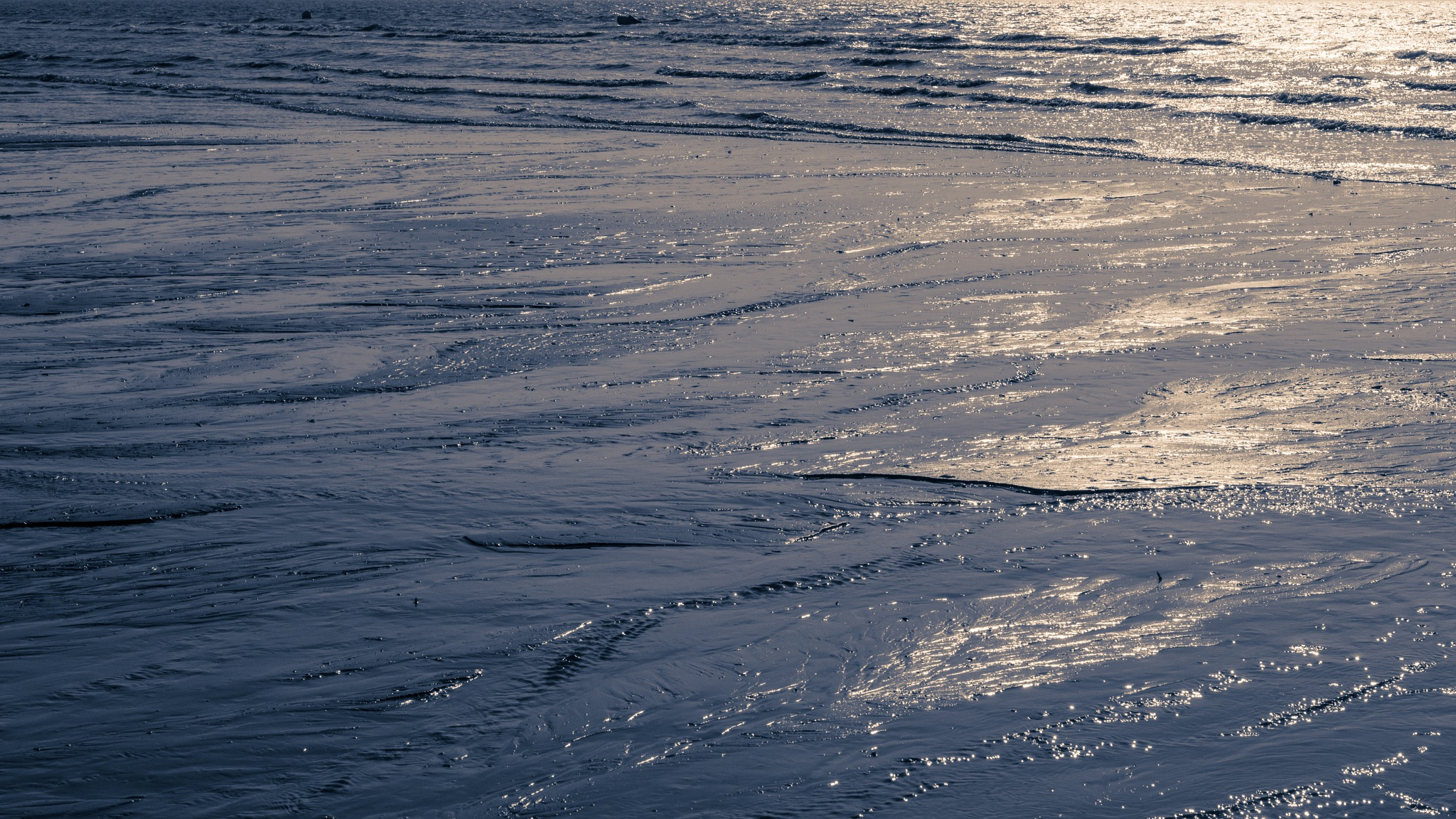 Low tide at sunset 2 by Valentine Aquilina