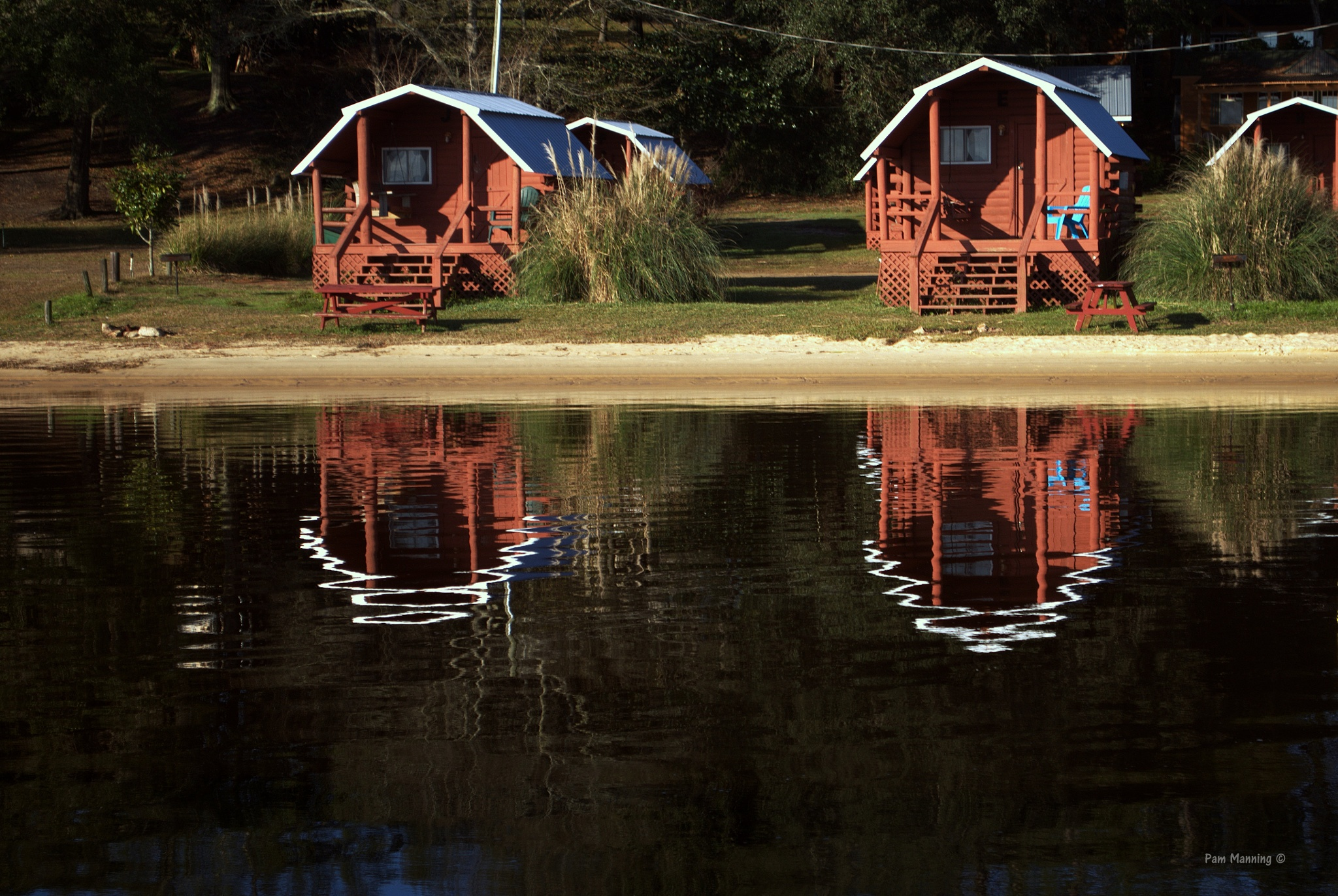 2 Cabins-2 Reflections by pam.satterfieldmanning