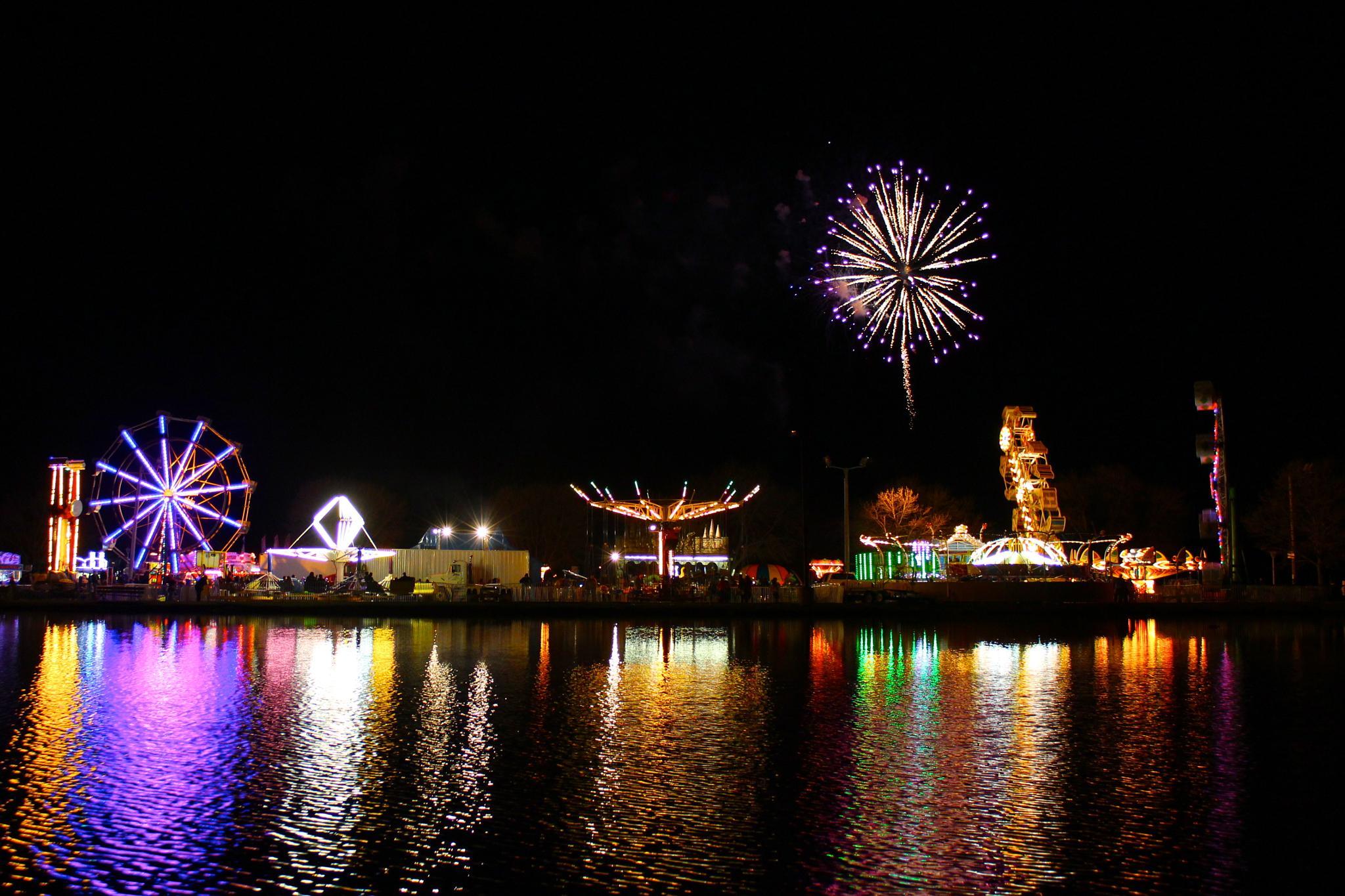 Purple Carnival Fireworks by heidi.croddick