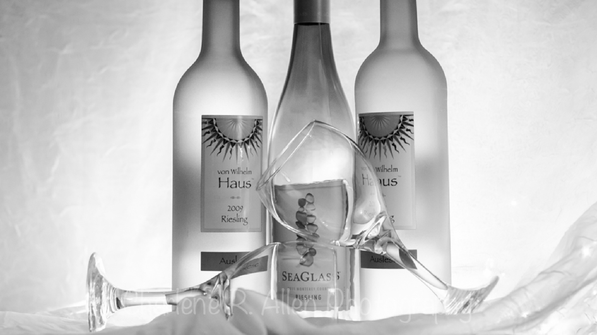 Wine in Black and White by Charlene Allen