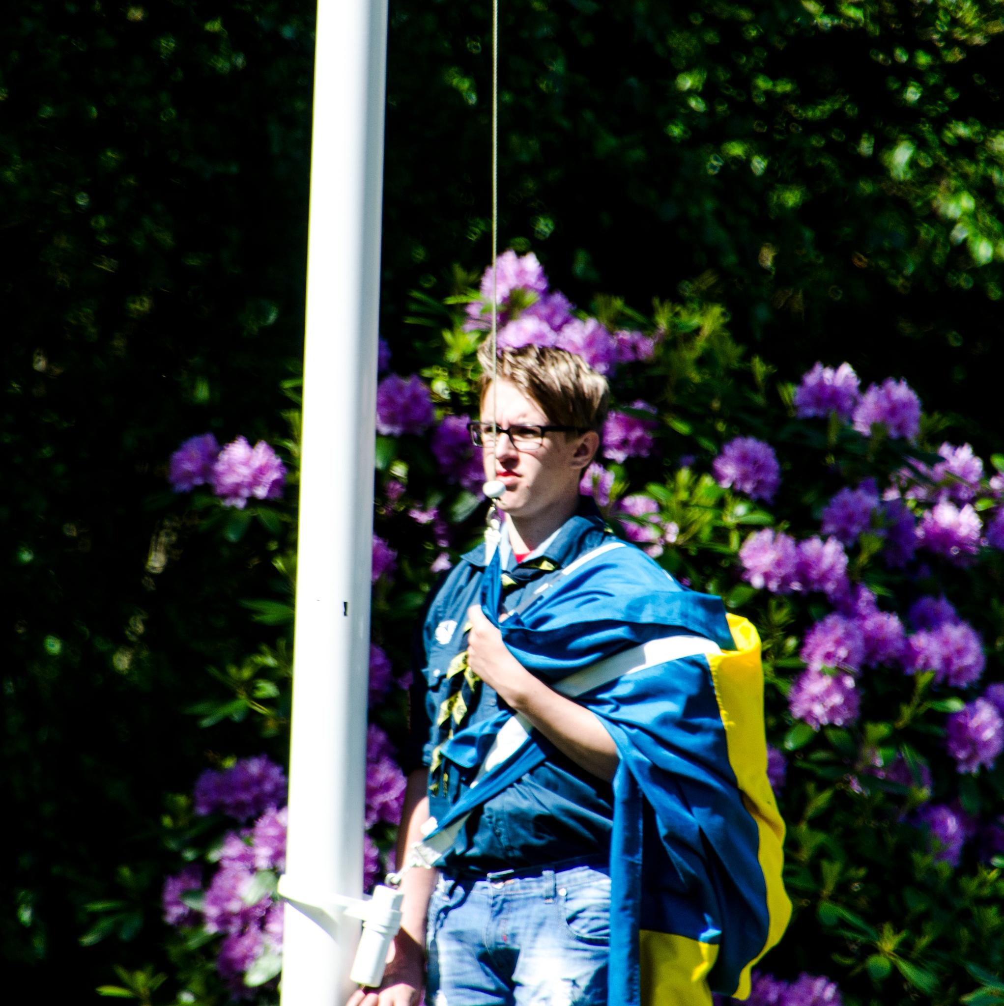 Awaiting flag raising by Johnny Lythell
