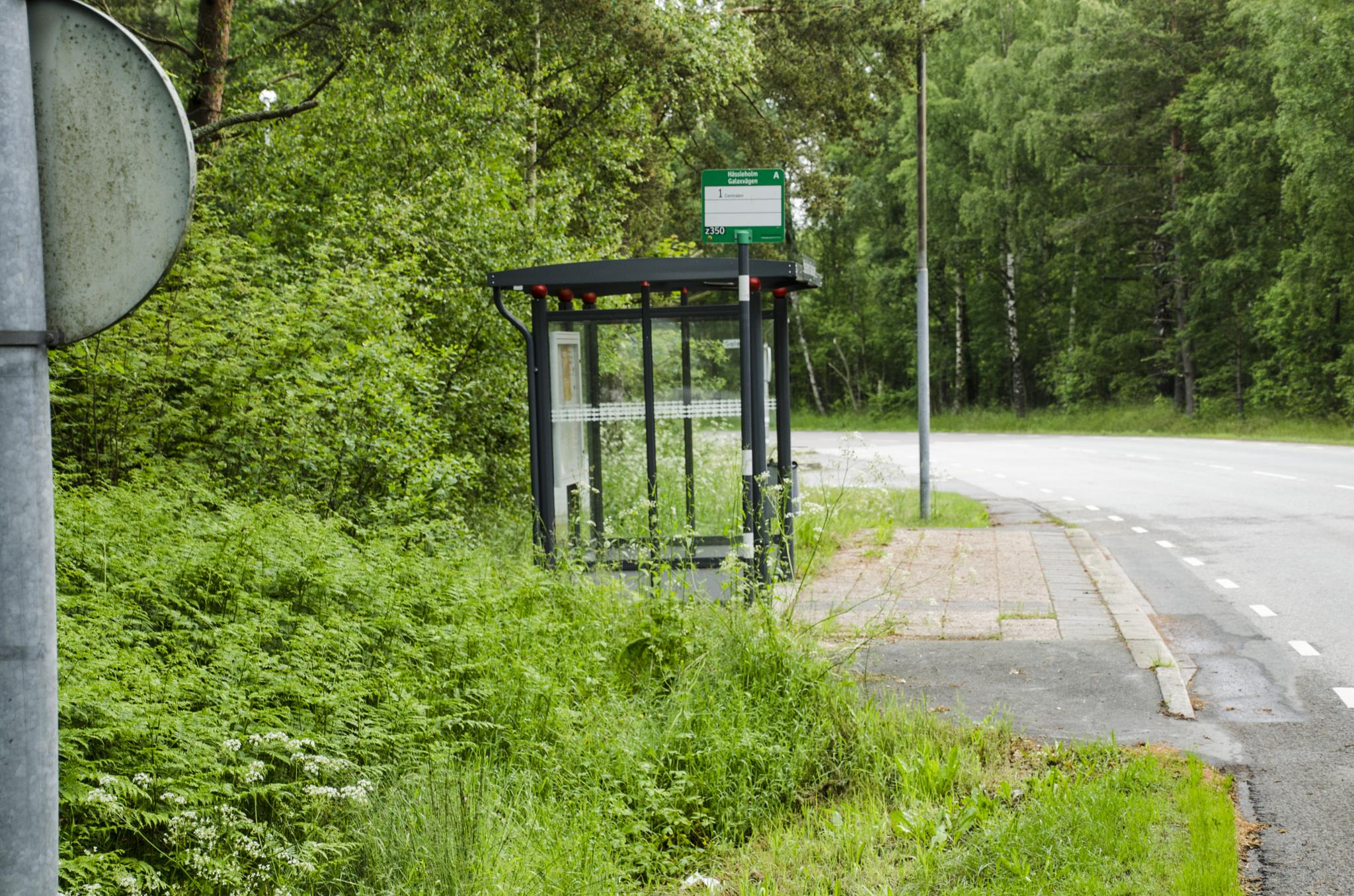 A Bus stop by Johnny Lythell