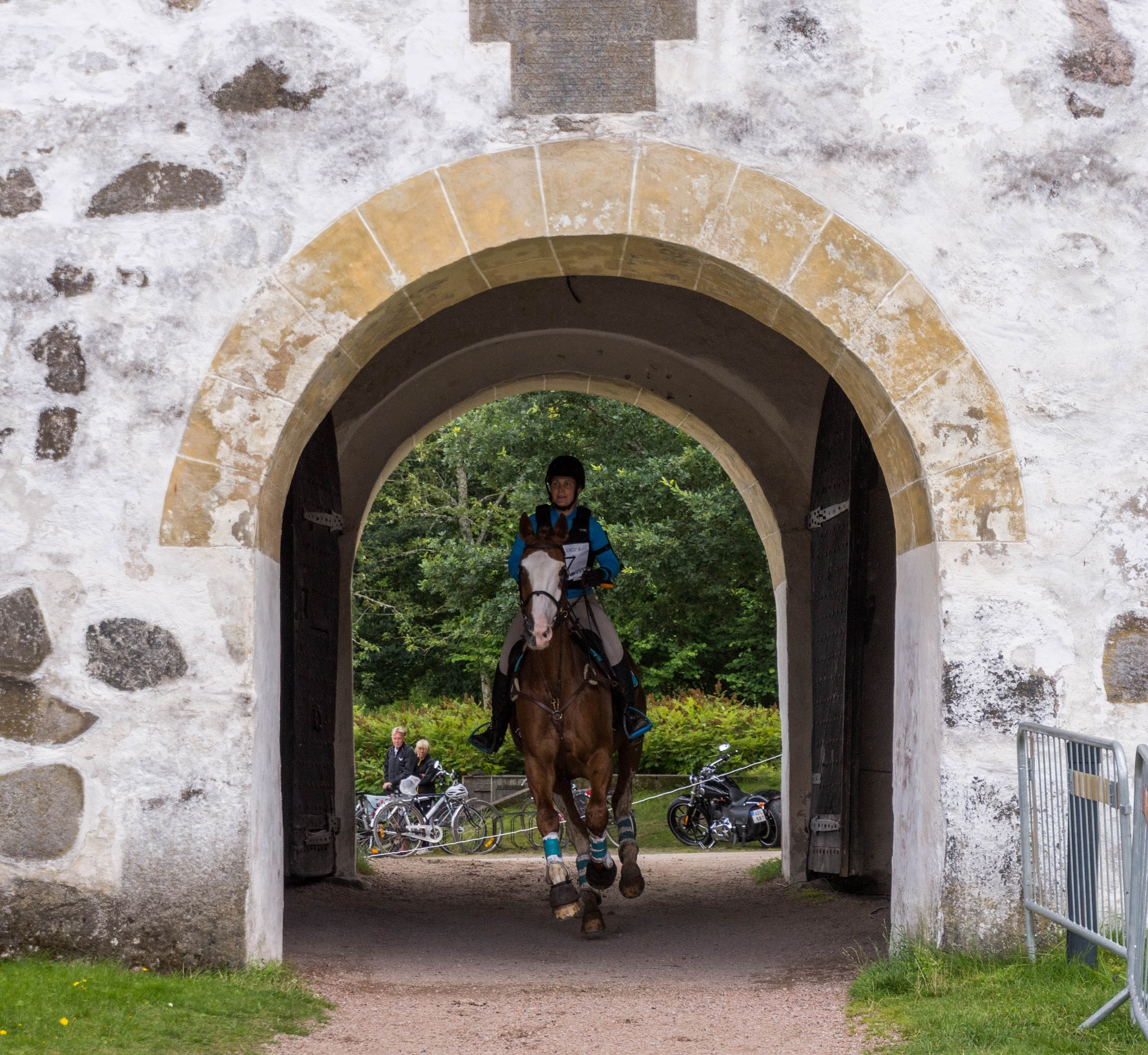 Horse in the castle's vault by Johnny Lythell