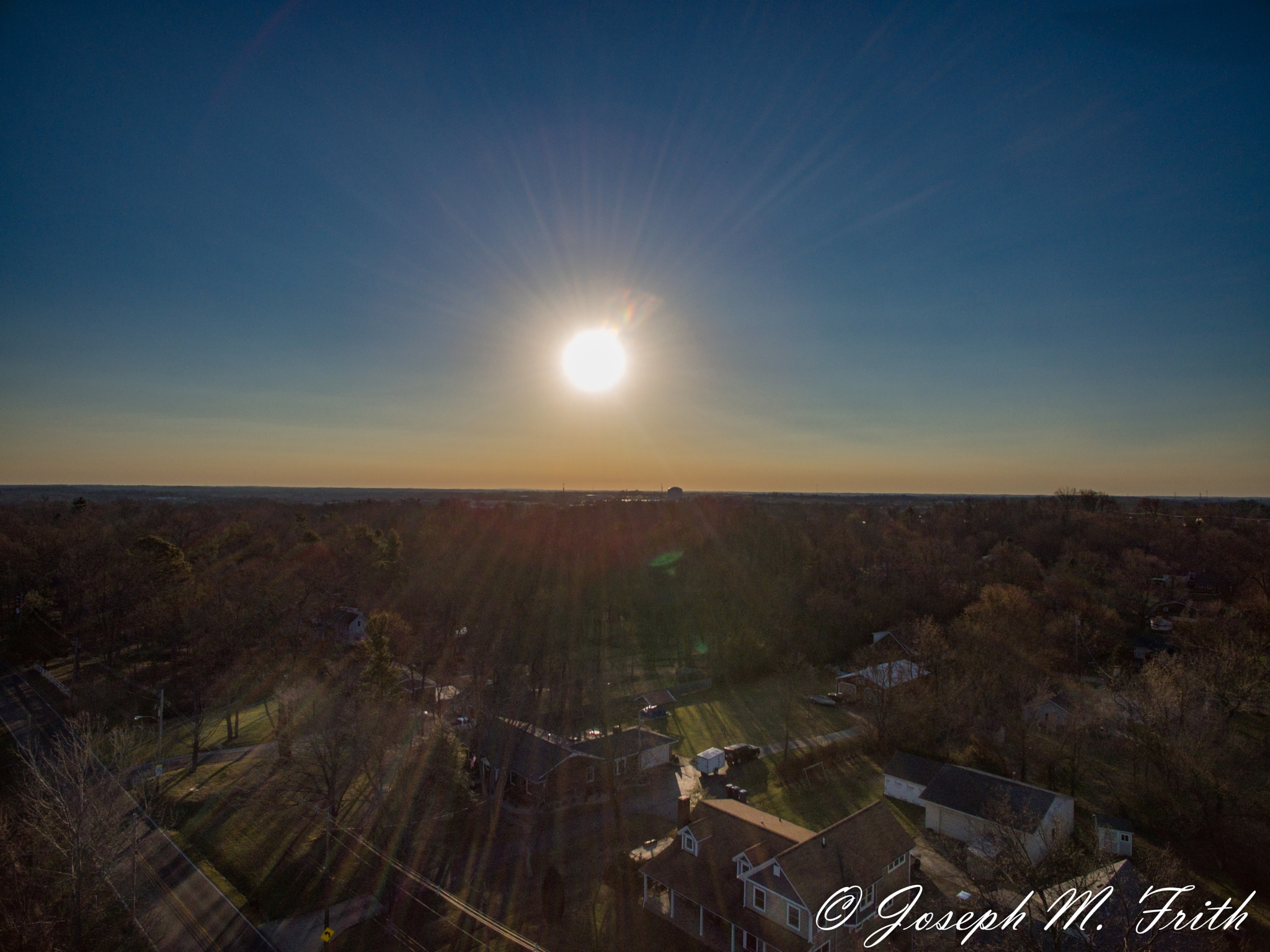 Sun rise over Middletown by joseph.m.frith