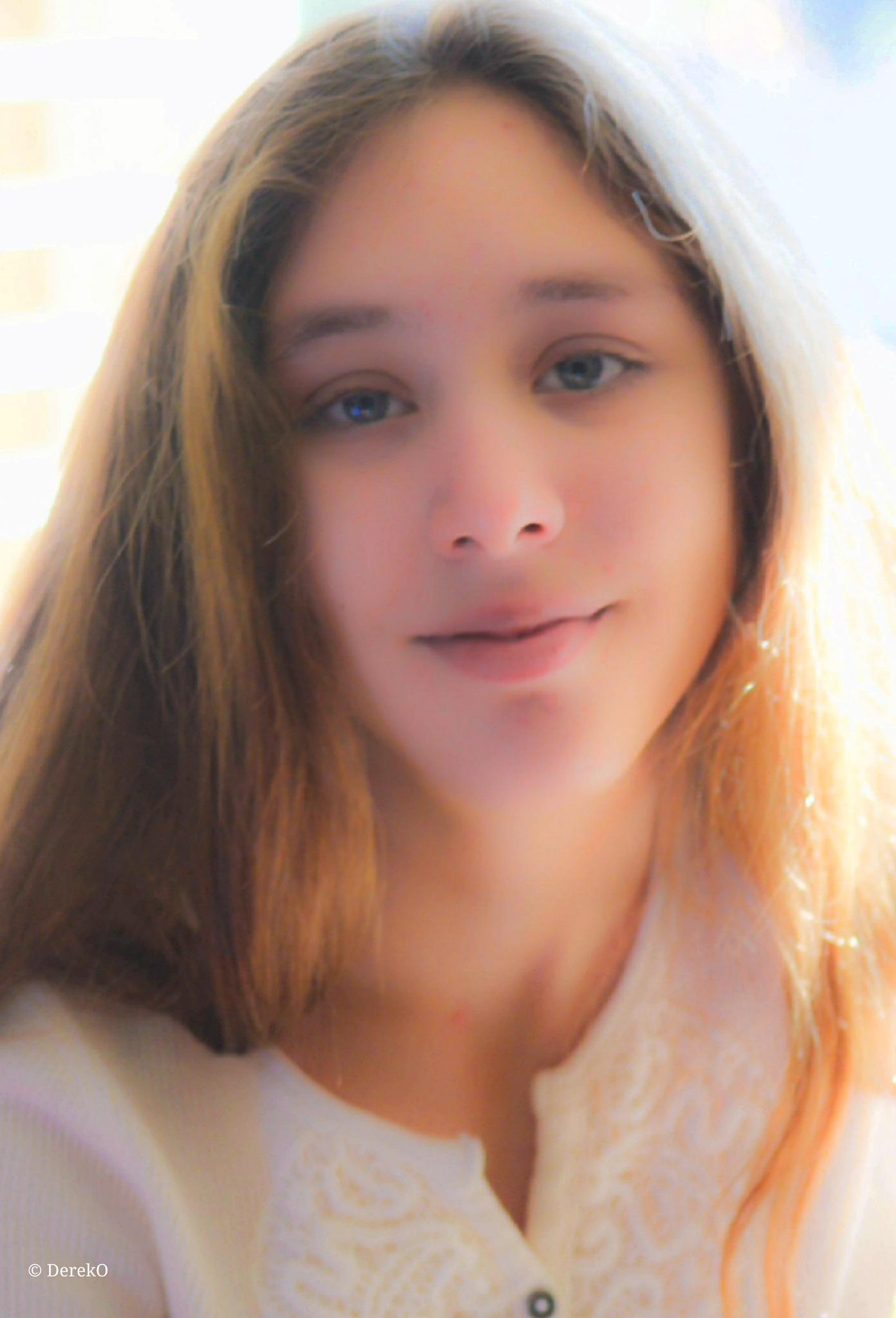 Photo in Portrait #dereko #derek oliver #khloe #light #child #girl #beautiful #blue #eyes #color #photography