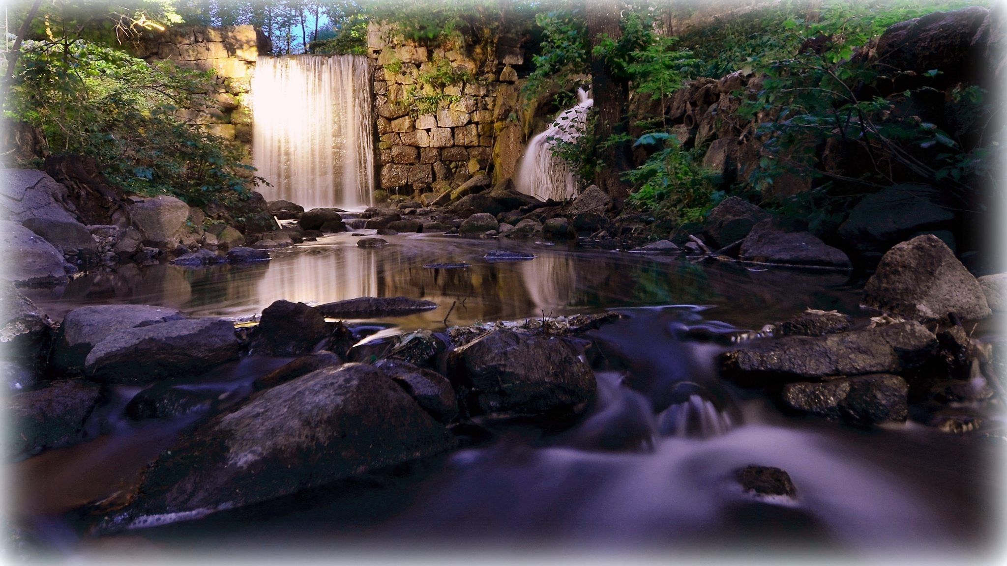 A waterfall in Linkoping 2 by rollepersson