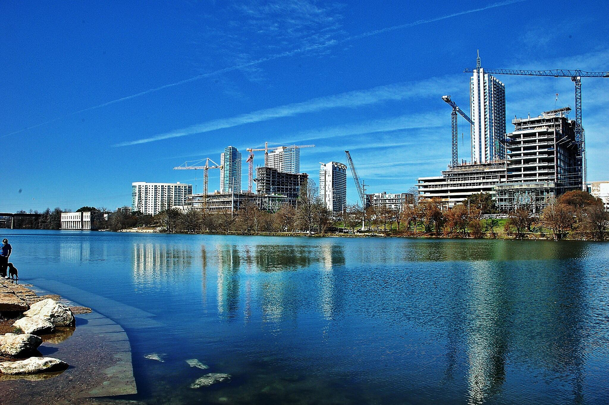 Downtown Austin and the Lady Bird Johnson Lake by Mark