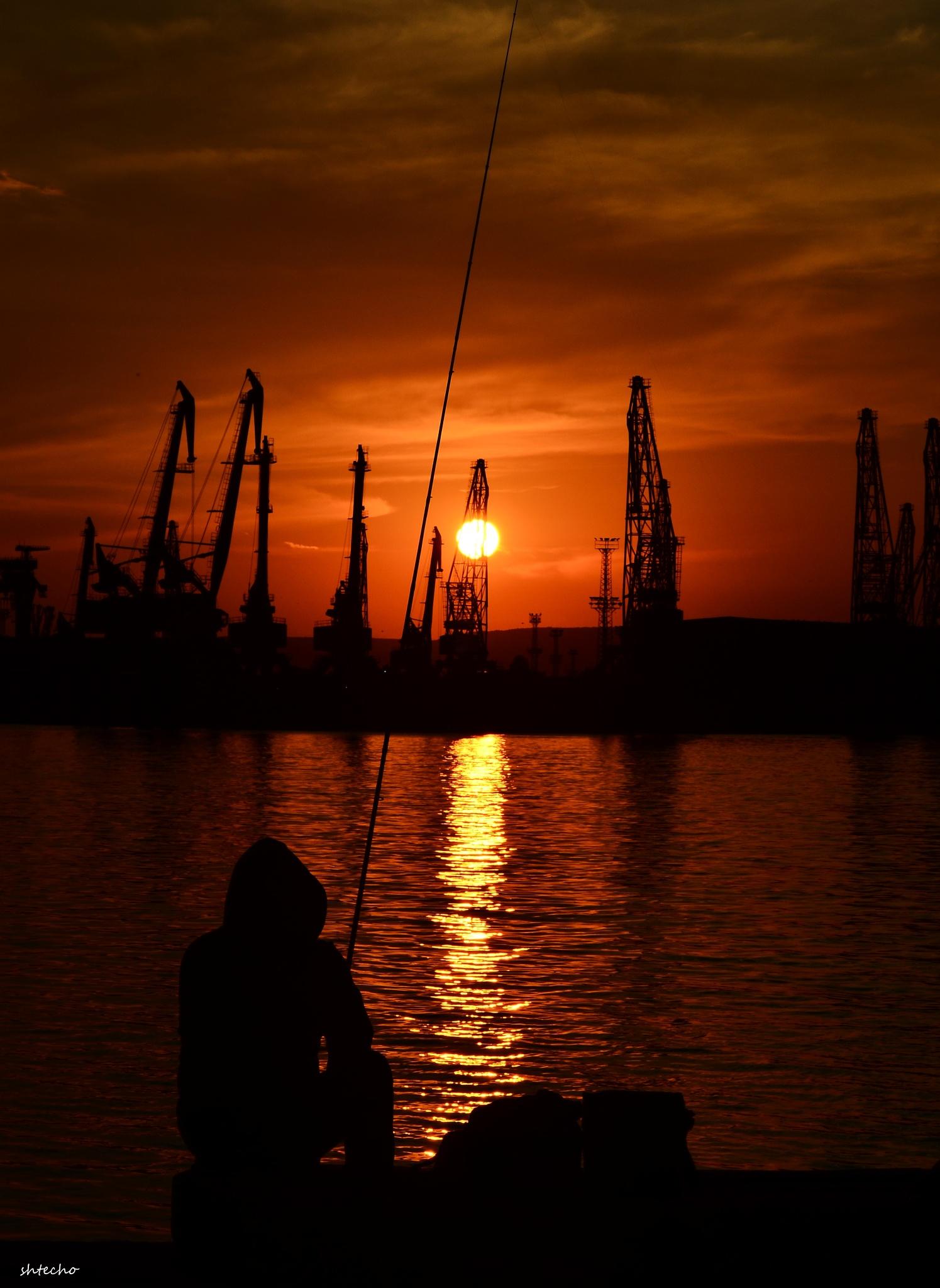 sunset in the dock ... by Sheryo Shterev