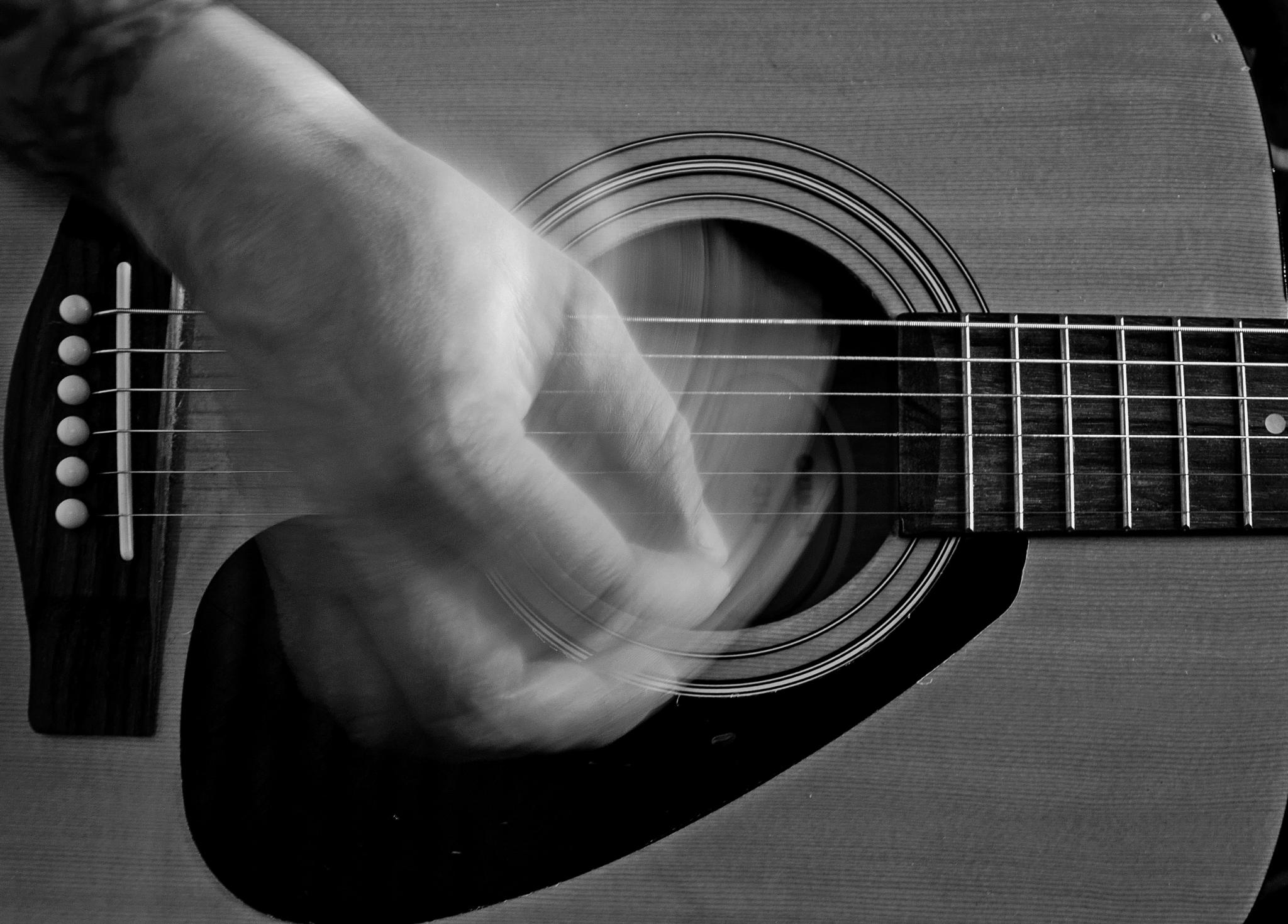 Photo in Abstract #play #playing #guitar #instrument #strum #pluck #pick #music