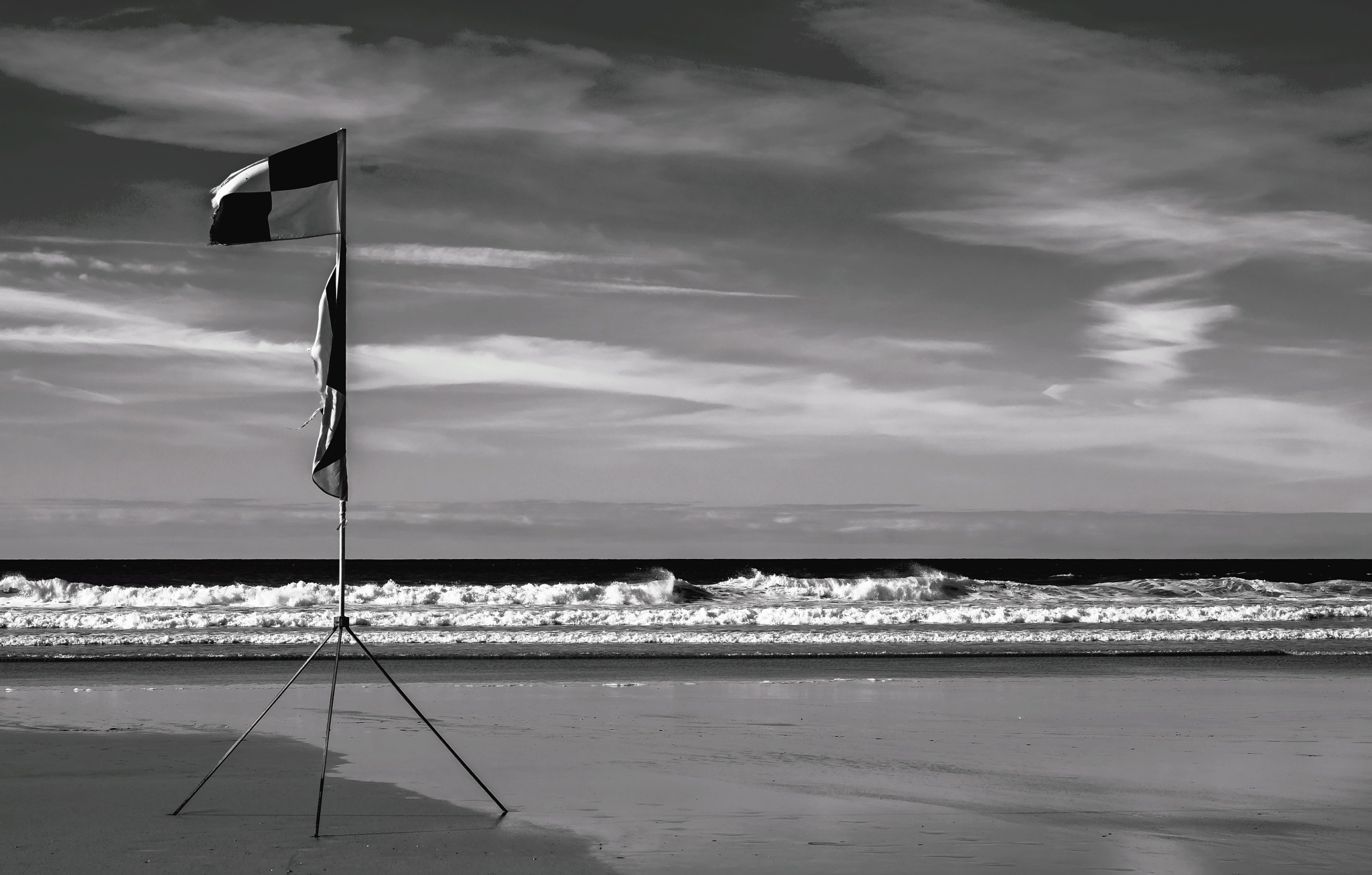 Black and white flag by MADOLDIE