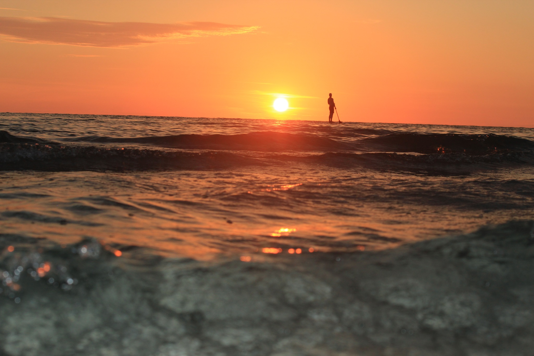 Sunset Paddle board by troublebbm