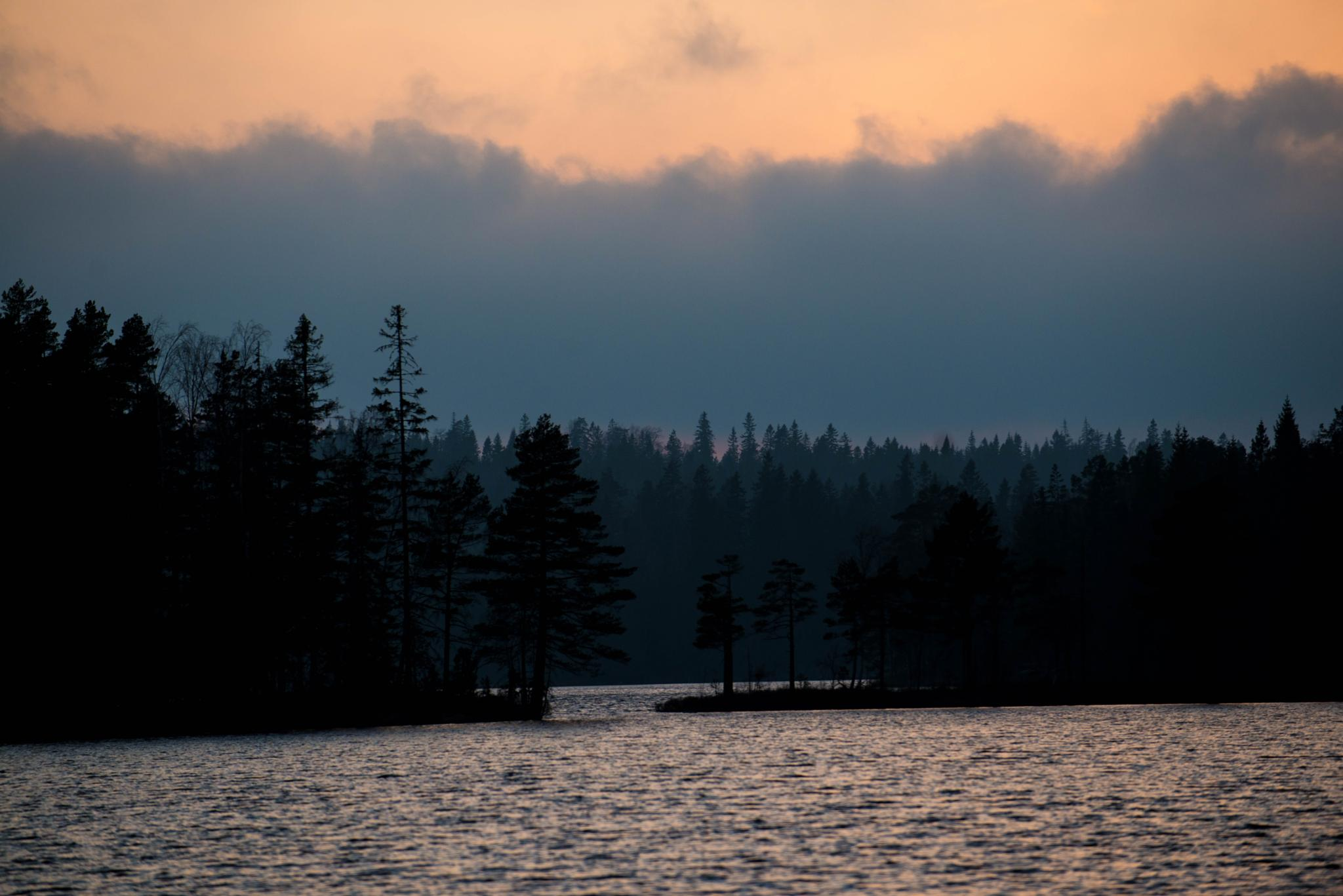 evning  att the lake by lars-goran6